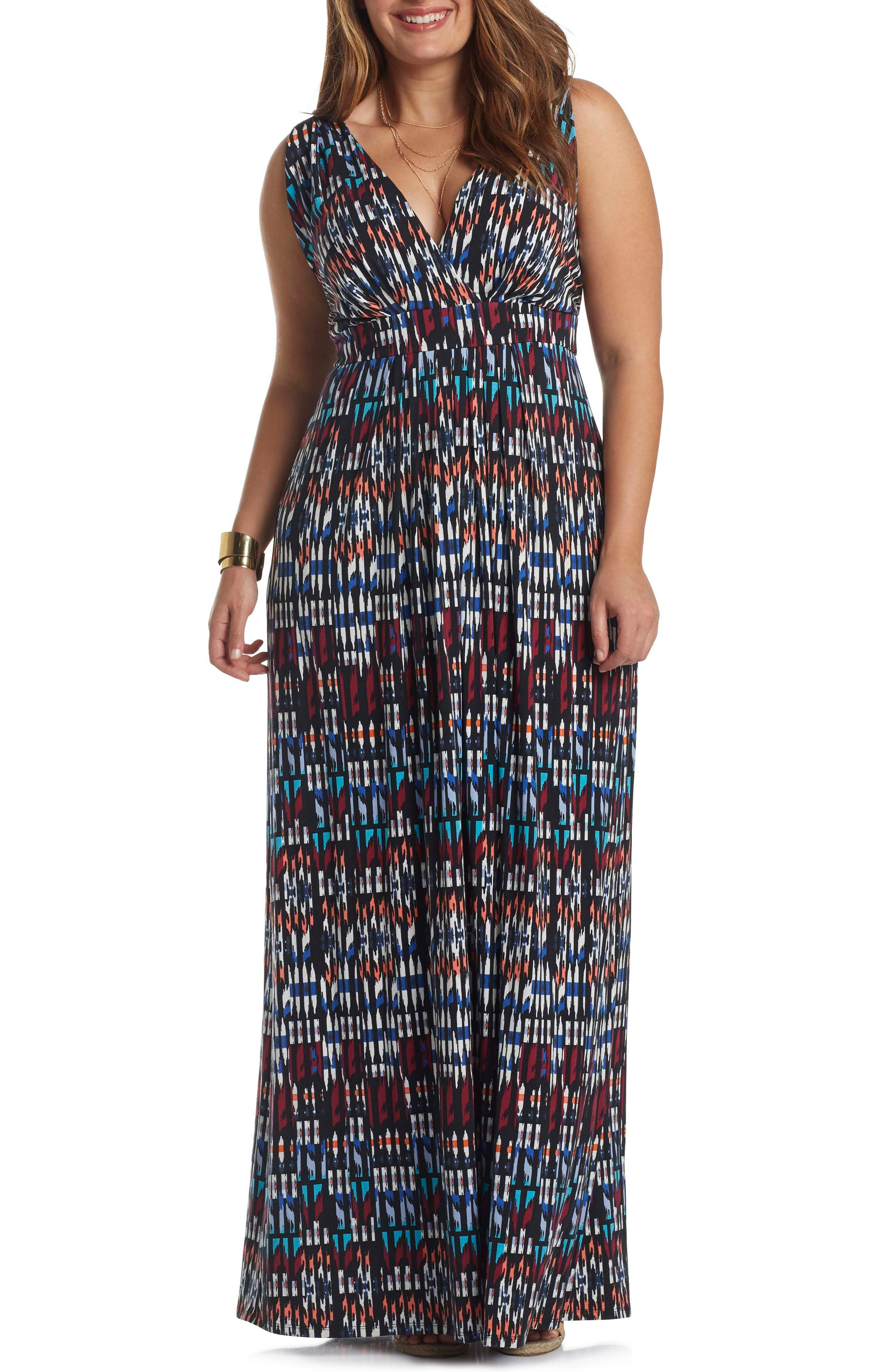 Main Image - Tart Chloe Empire Waist Maxi Dress (Plus Size)