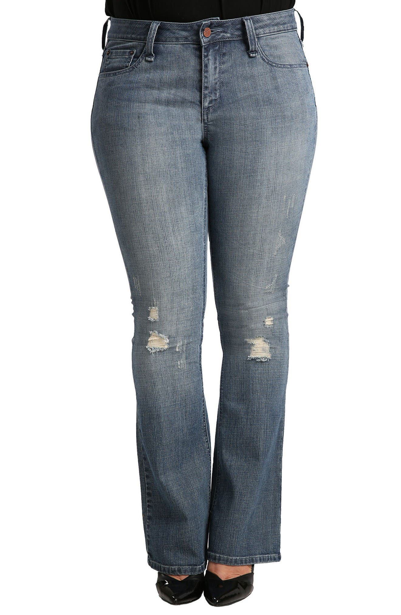 Alternate Image 1 Selected - Standards & Practices Clarice Uptown Mid Rise Bootcut Jeans (Plus Size)