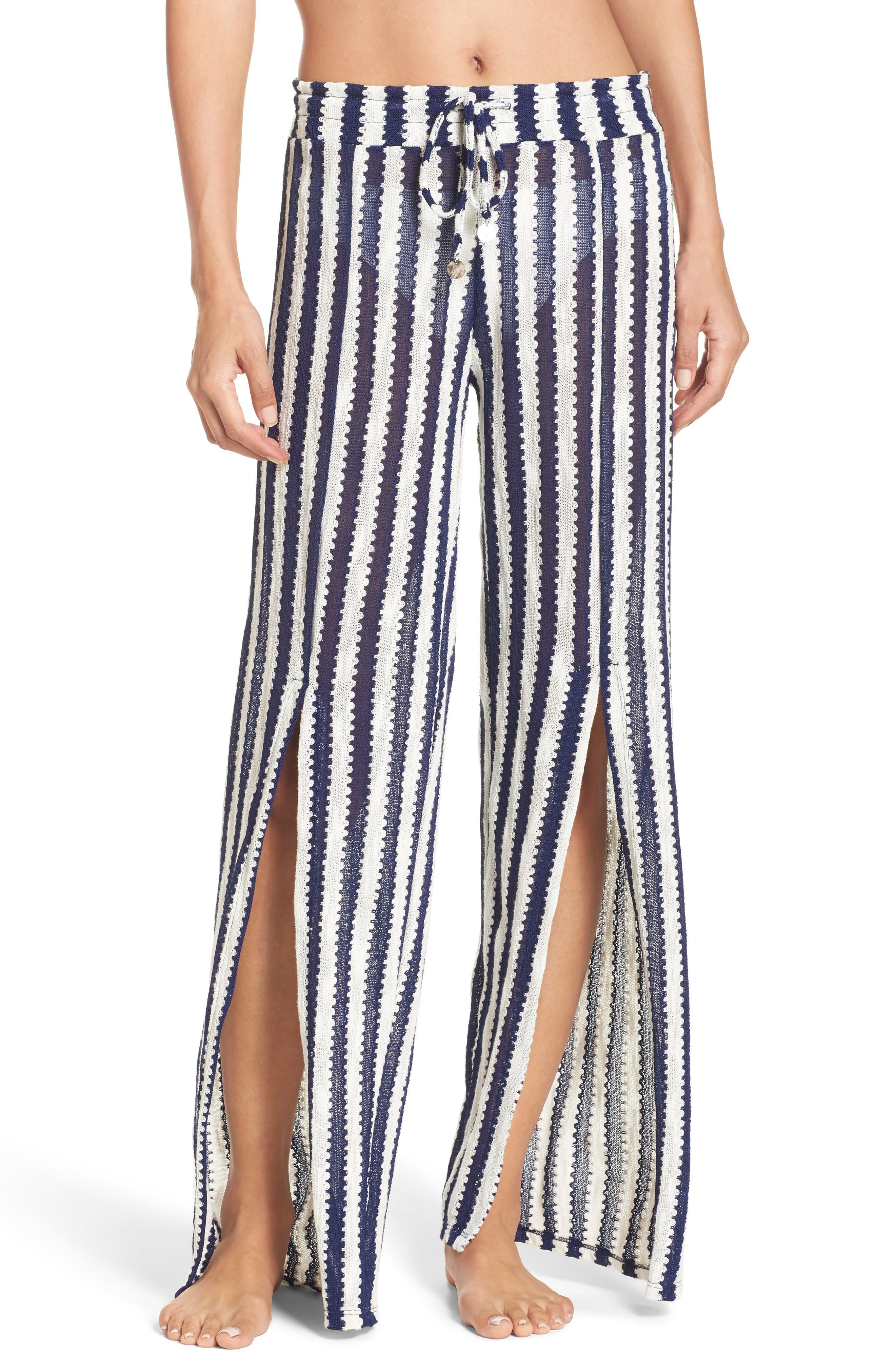 Alternate Image 1 Selected - Isabella Rose Ships Ahoy Cover-Up Pants