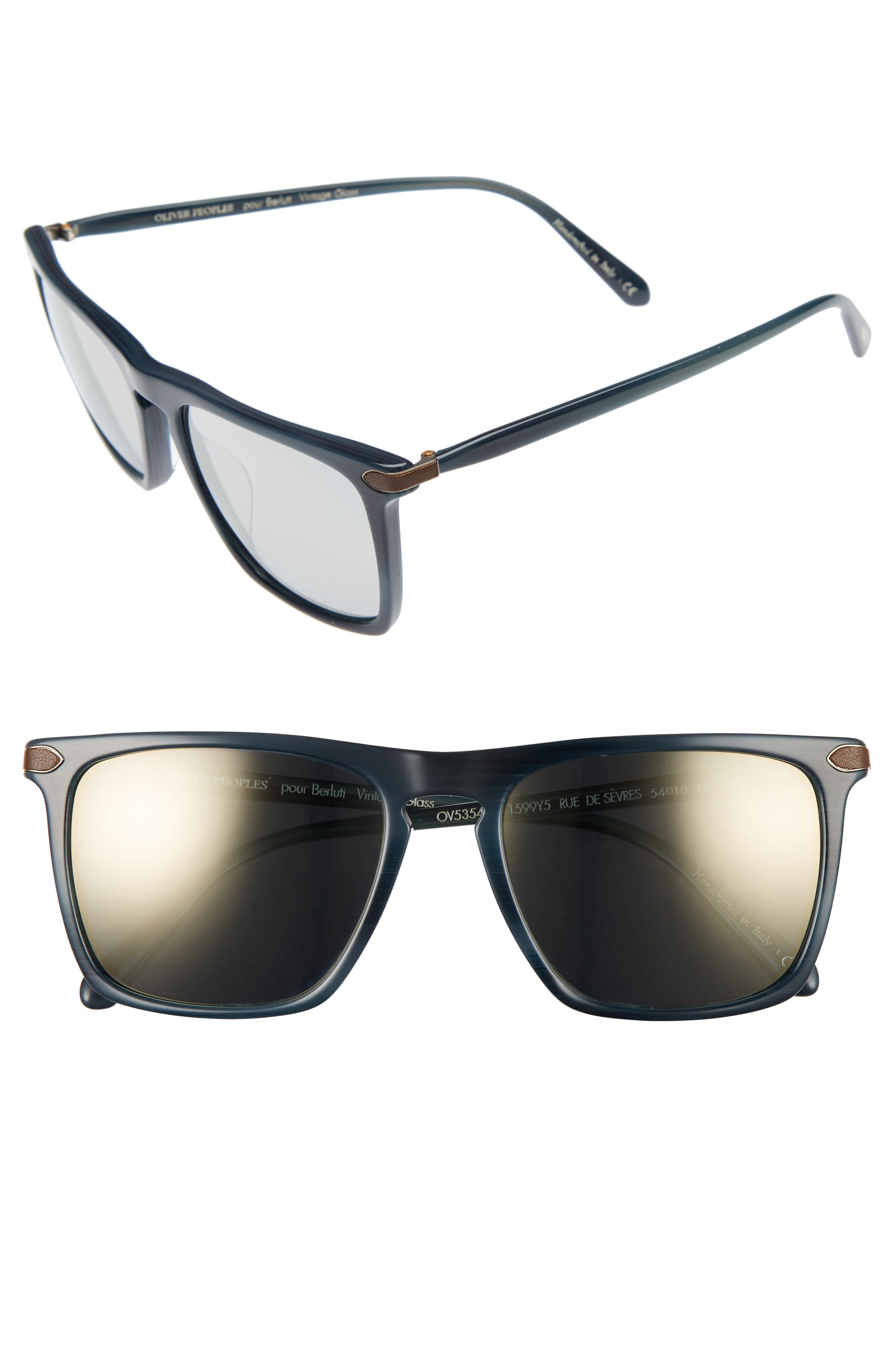 Alternate Image 1 Selected - Oliver Peoples Rue De Sevres 54mm Polarized Sunglasses
