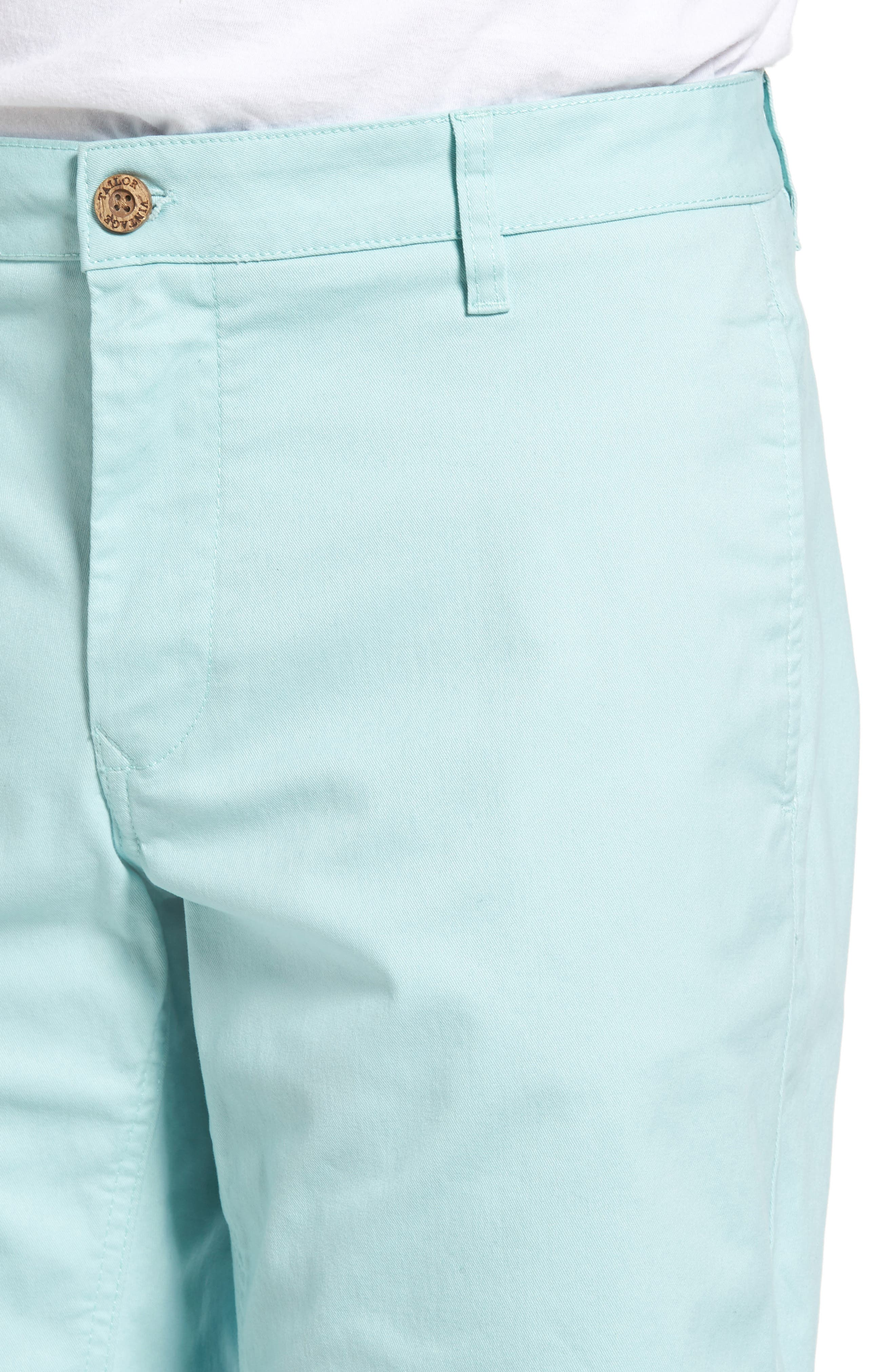 Stretch Twill Walking Shorts,                             Alternate thumbnail 4, color,                             Canal Blue
