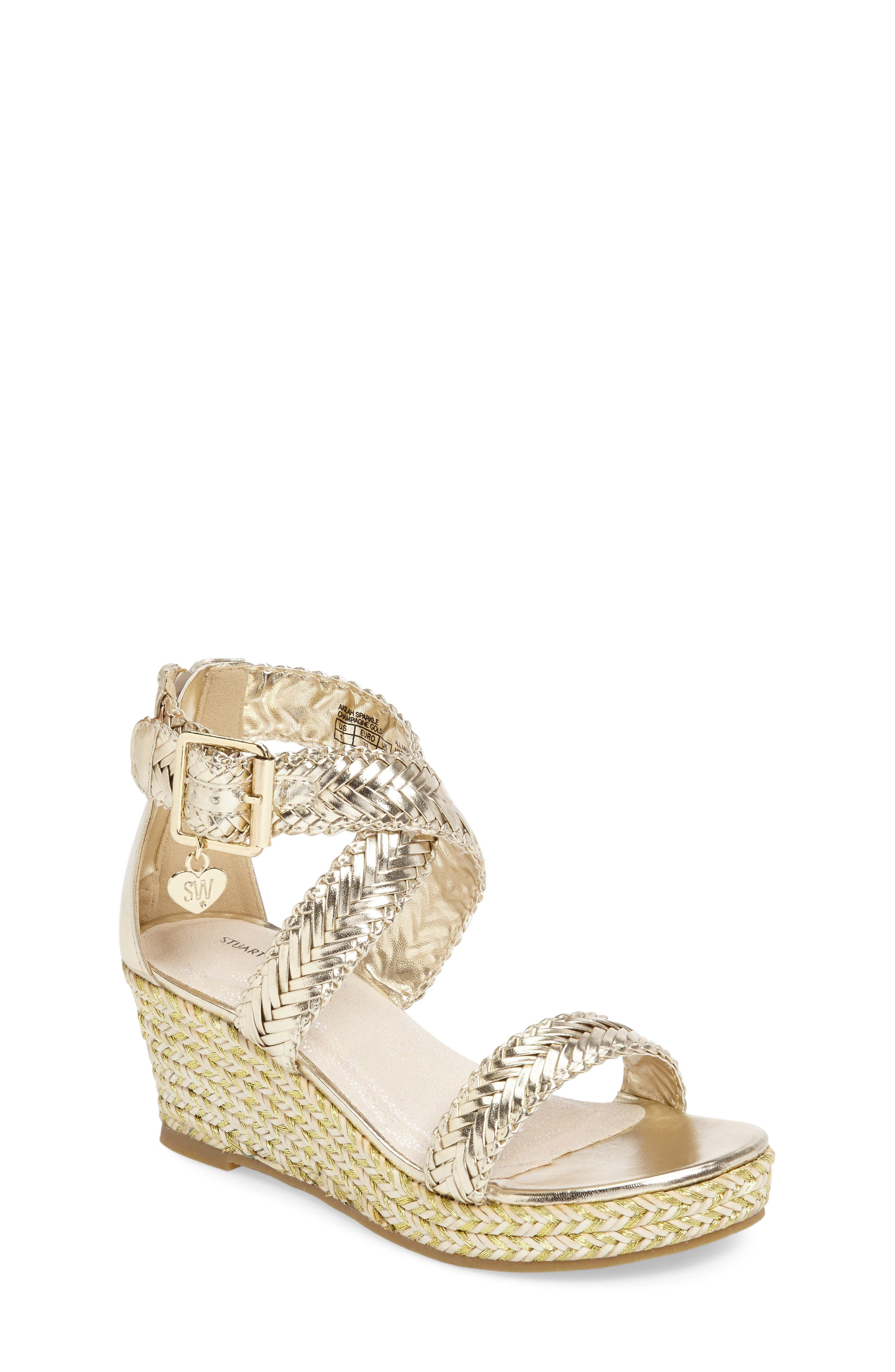 Stuart Weitzman Akilah Wedge Sandal (Toddler, Little Kid & Big Kid)