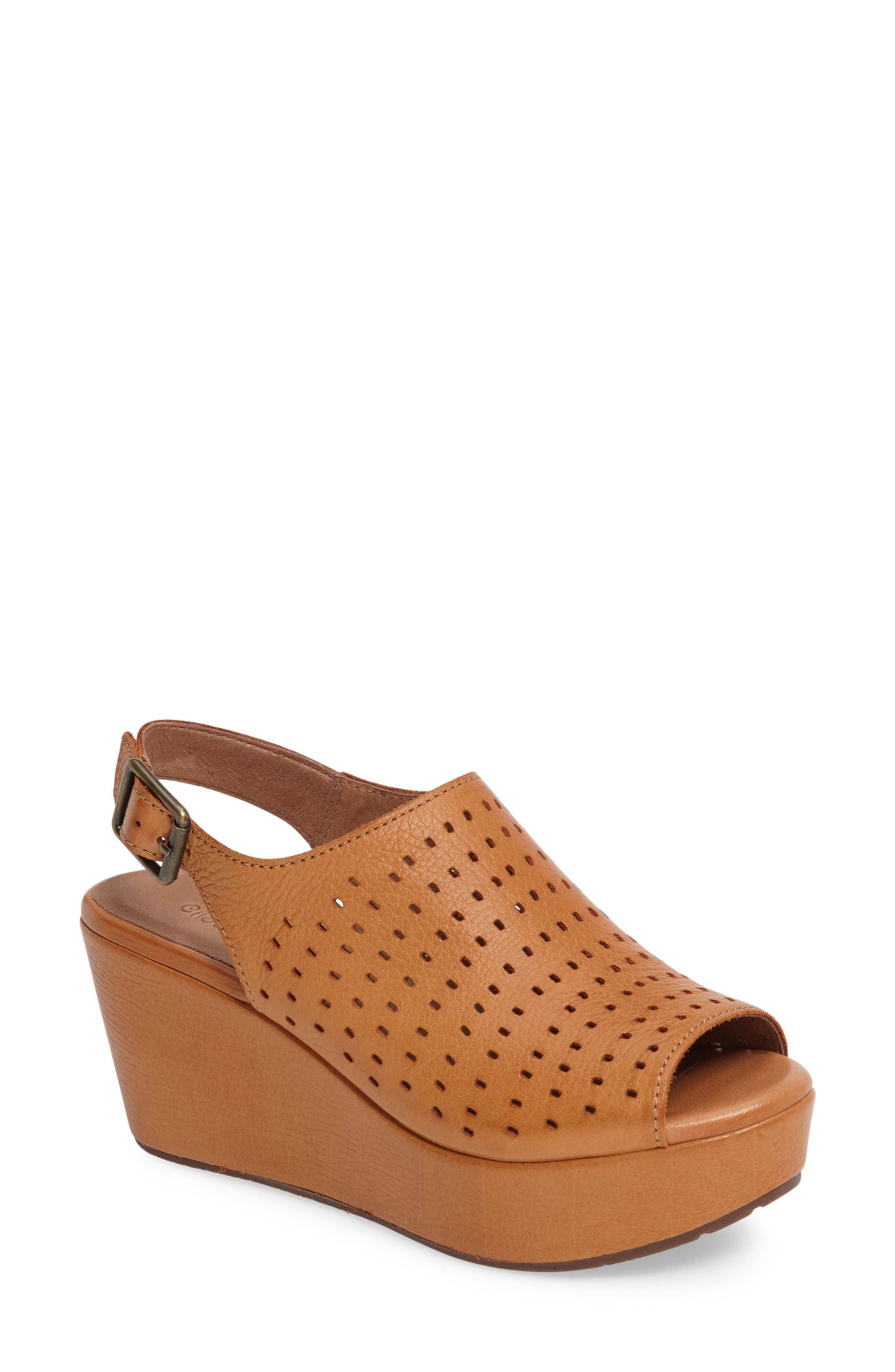 Chocolat Blu Wala Perforated Wedge Sandal (Women)