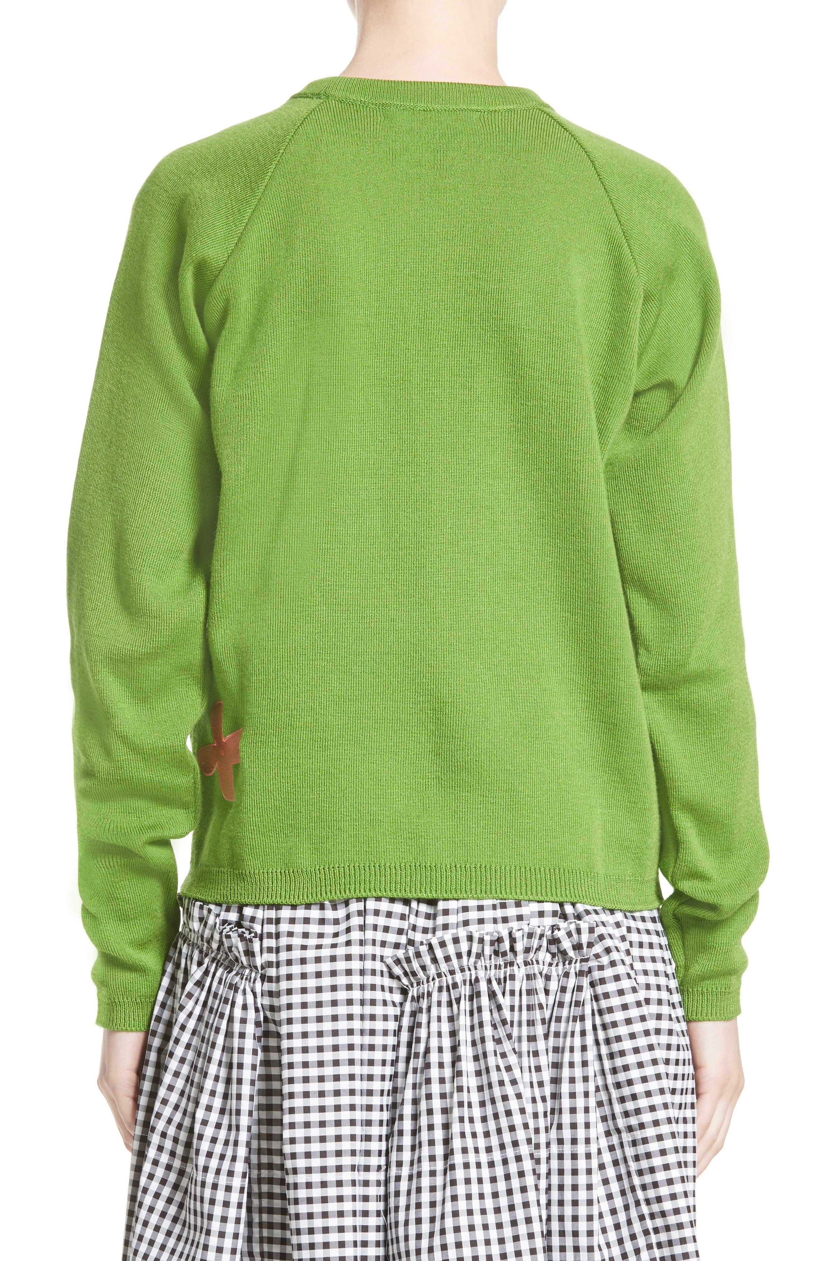 Charlie Sweater,                             Alternate thumbnail 2, color,                             Green/ Pink