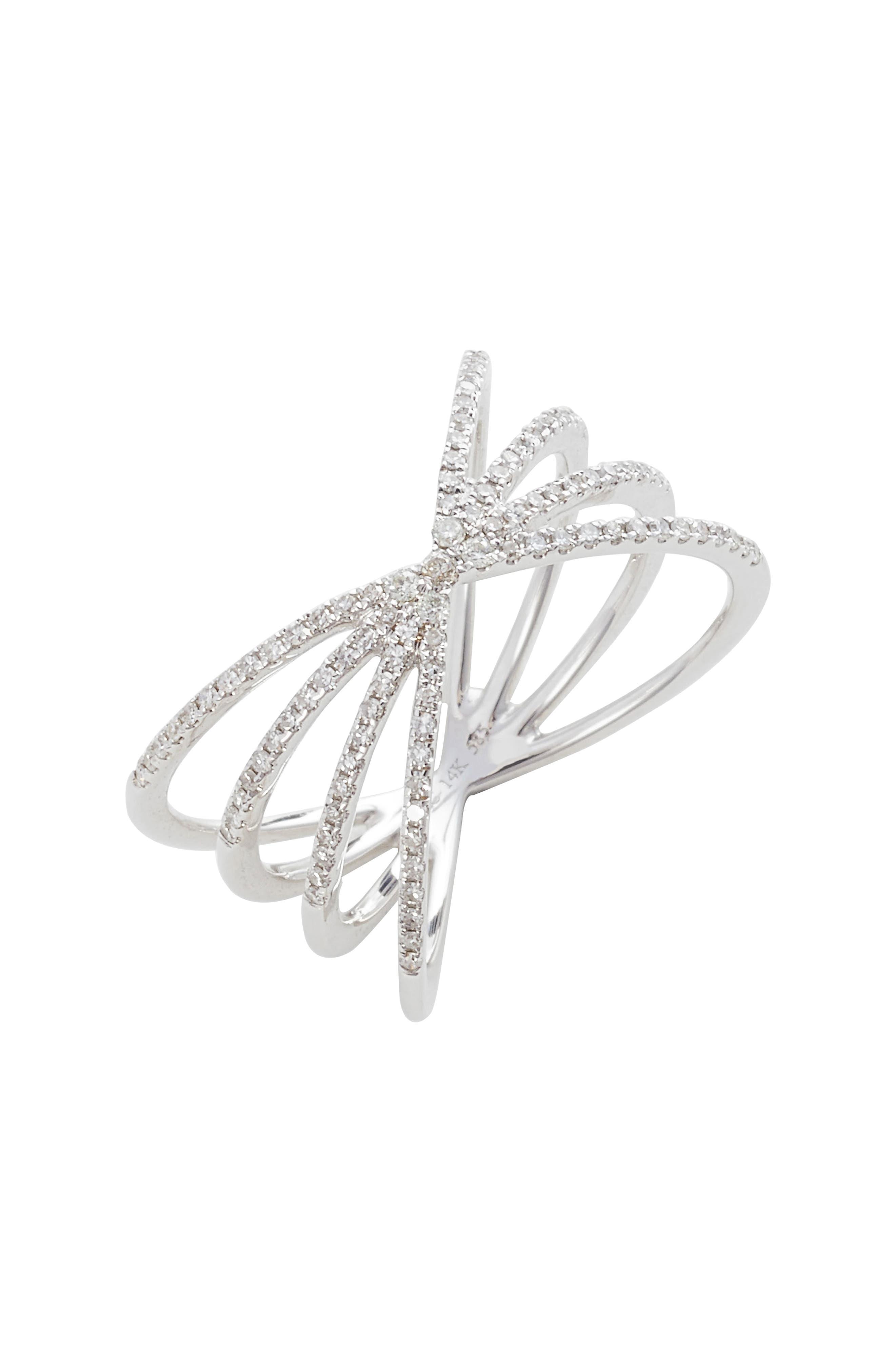EF COLLECTION Sunburst Diamond Ring