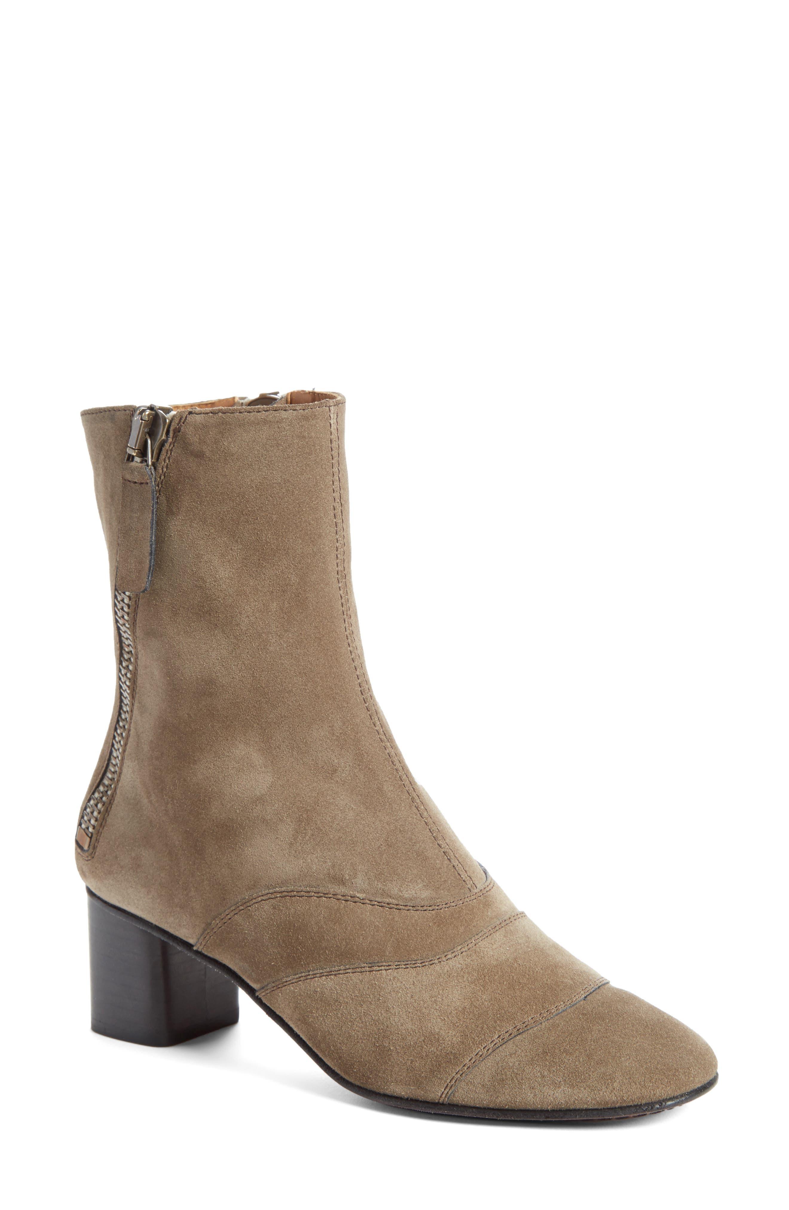 Lexie Block Heel Boot,                         Main,                         color, Dark Greige