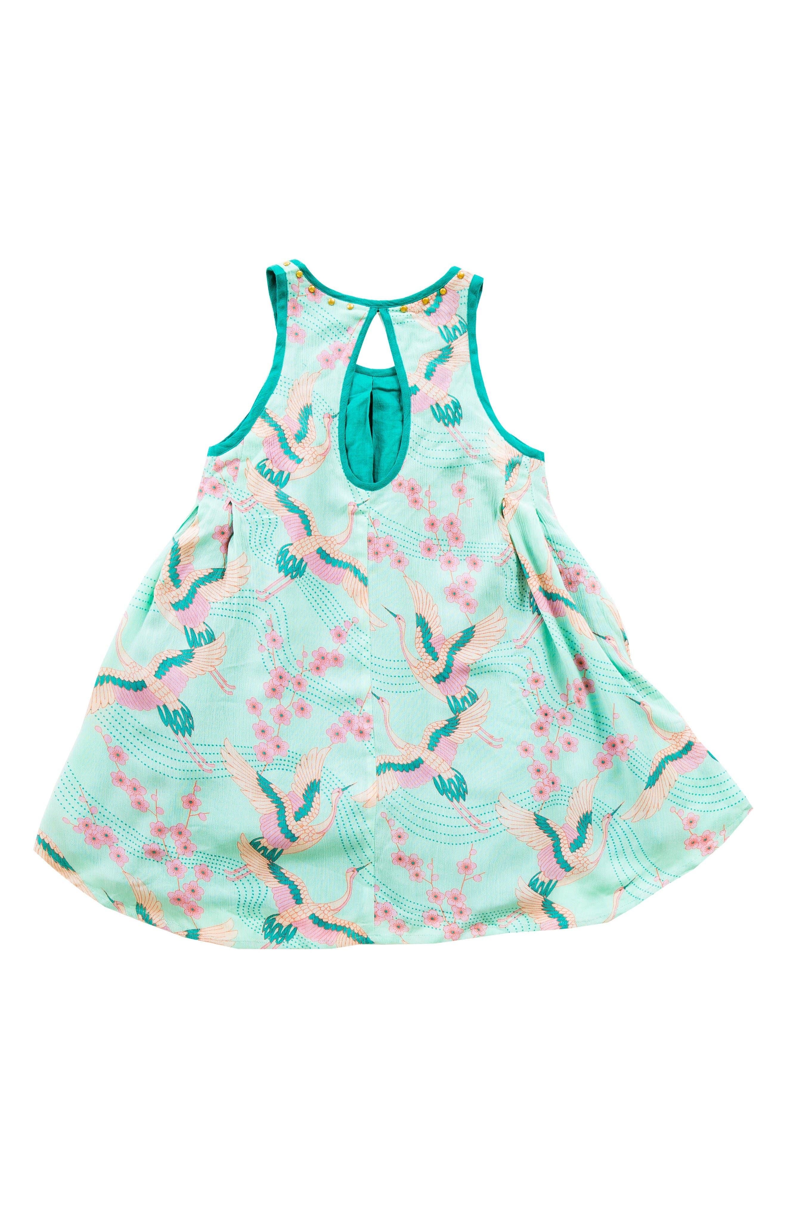 Alternate Image 3  - BOWIE X JAMES Print Trapeze Dress (Toddler Girls, Little Girls & Big Girls)