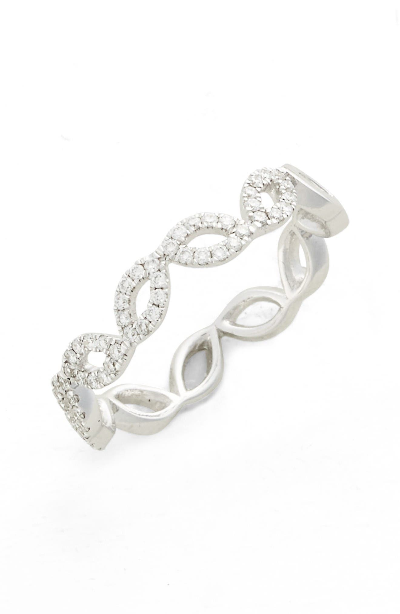 BONY LEVY Stackable Diamond Marquee Band Ring