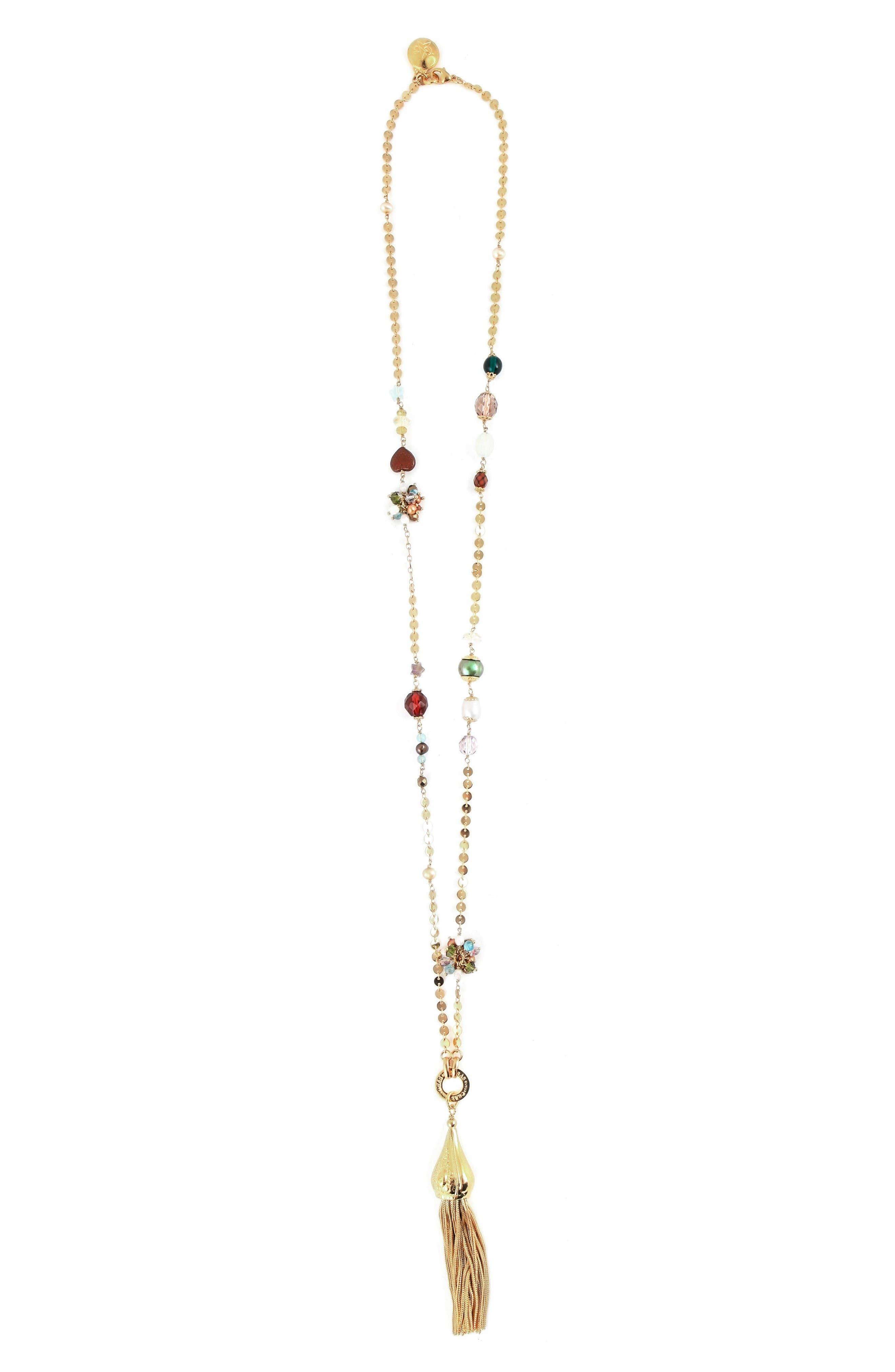 Alternate Image 2  - Gas Bijoux Pompom Tassel Necklace