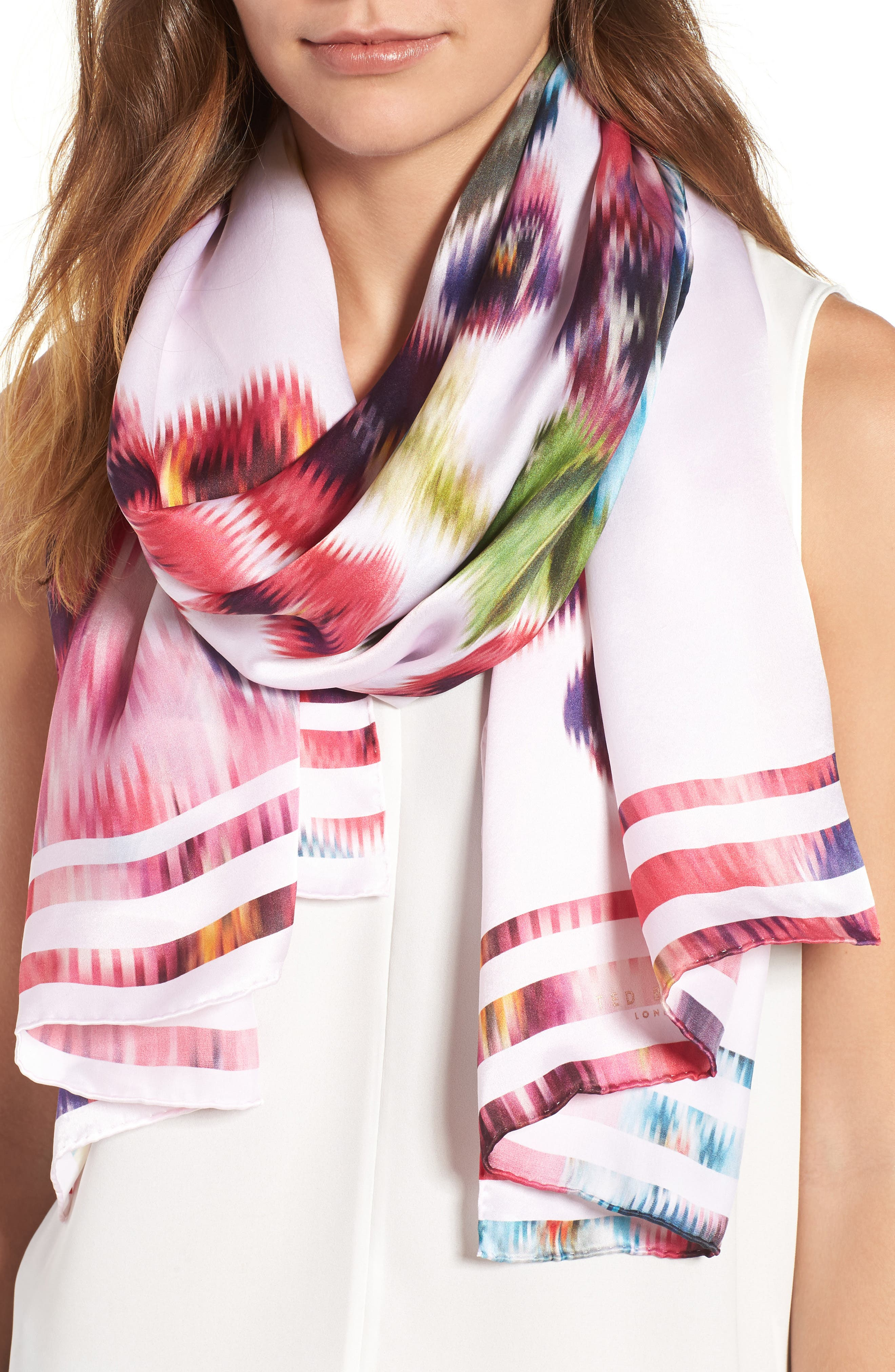 Ted Baker London Esila Expressive Pansy Silk Scarf