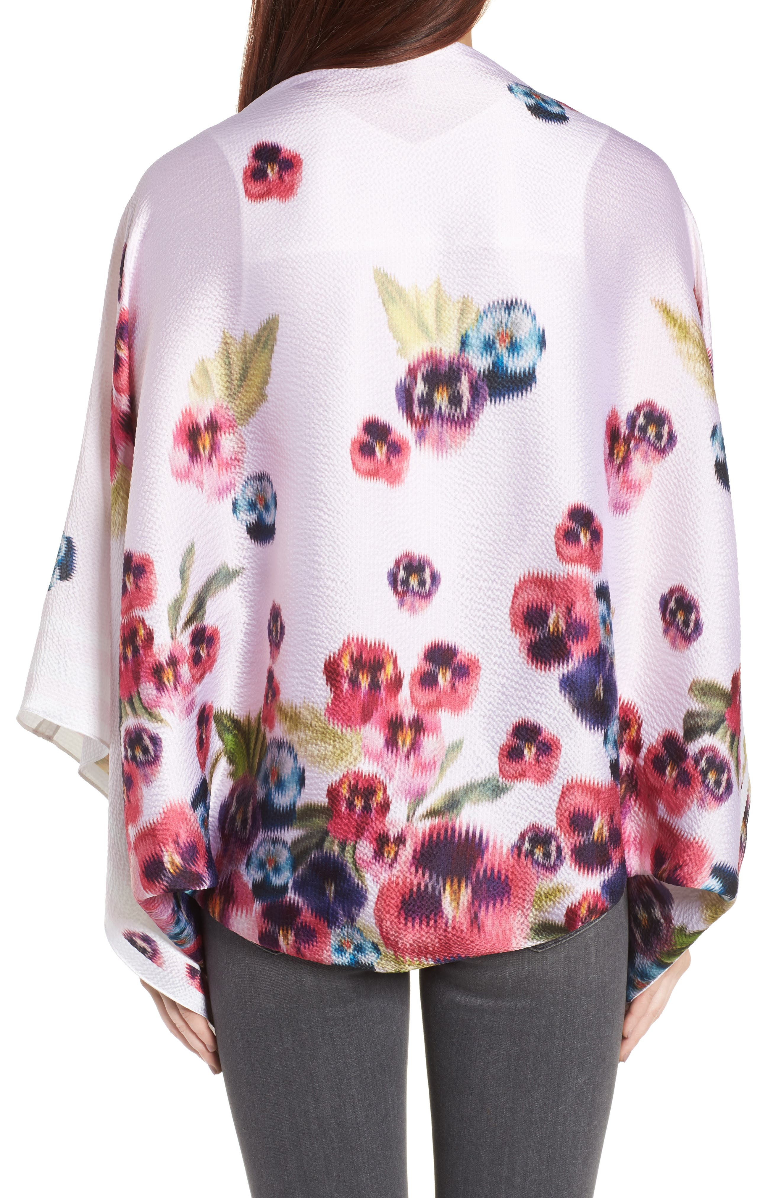 Alternate Image 2  - Ted Baker London Ellila Expressive Pansy Floral Cape Scarf