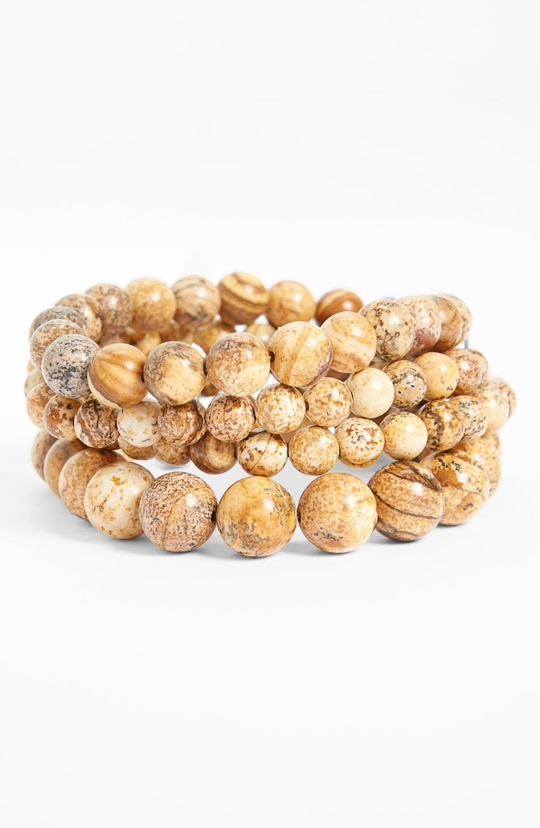 Main Image - Nordstrom Bead Stretch Bracelets (Set of 4)