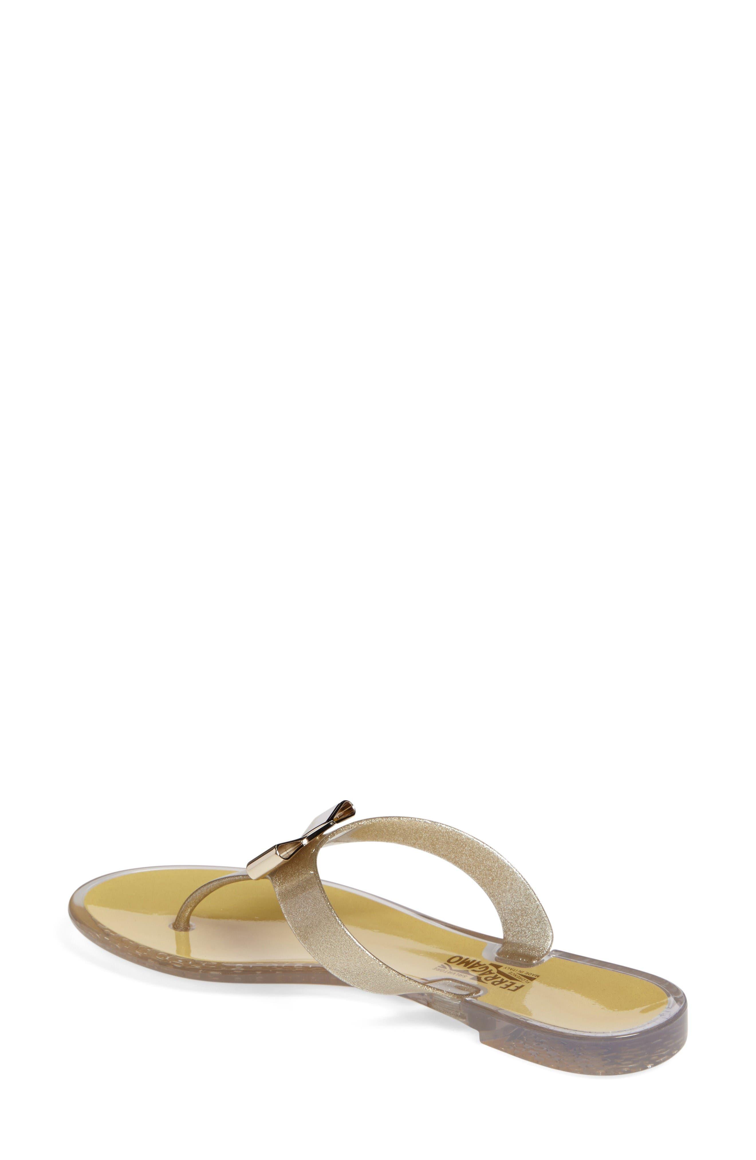 Alternate Image 2  - Salvatore Ferragamo Jelly Flat Bow Sandal (Women)