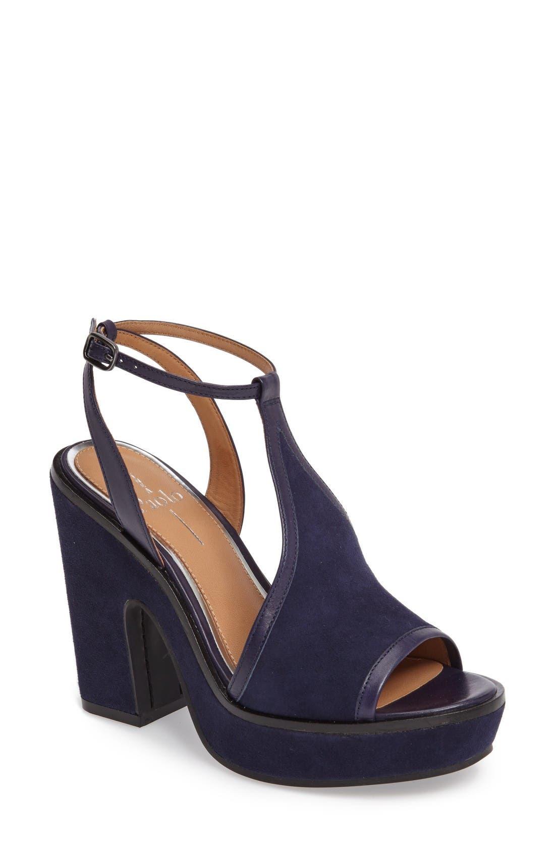 LINEA PAOLO India T-Strap Platform Sandal