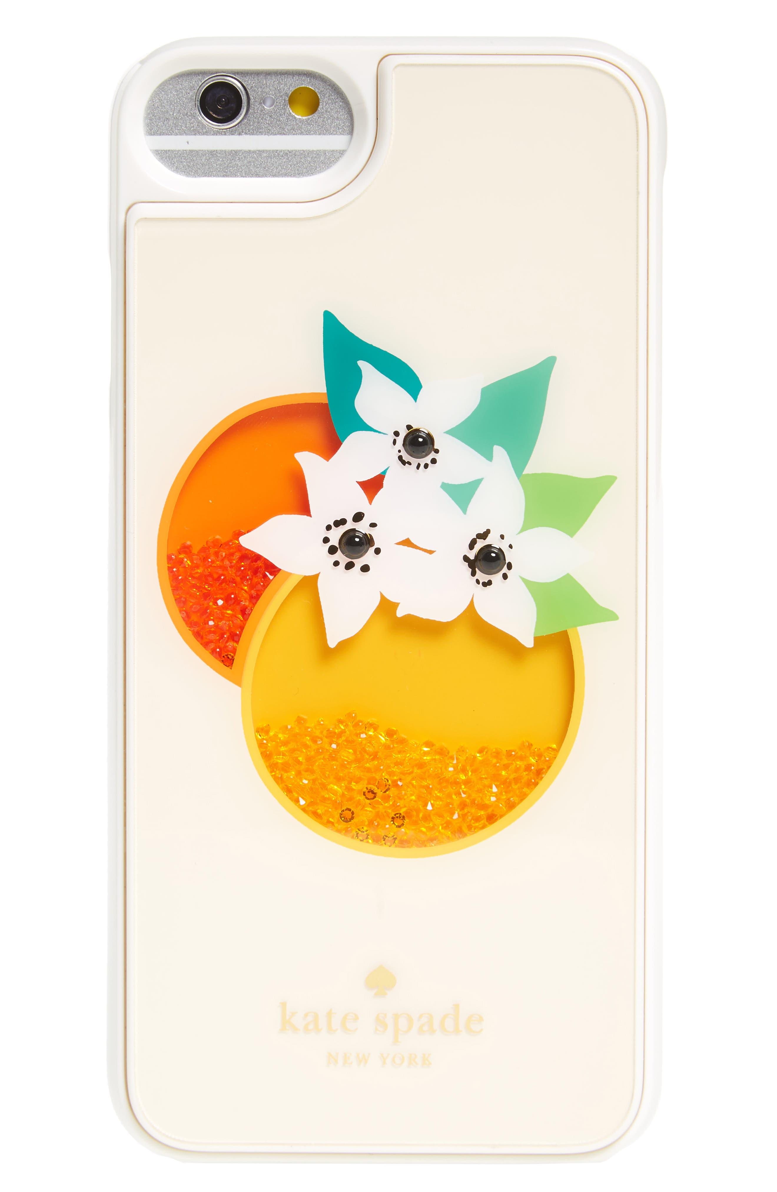 Alternate Image 1 Selected - kate spade new york orange shake iPhone 7 & 7 Plus case