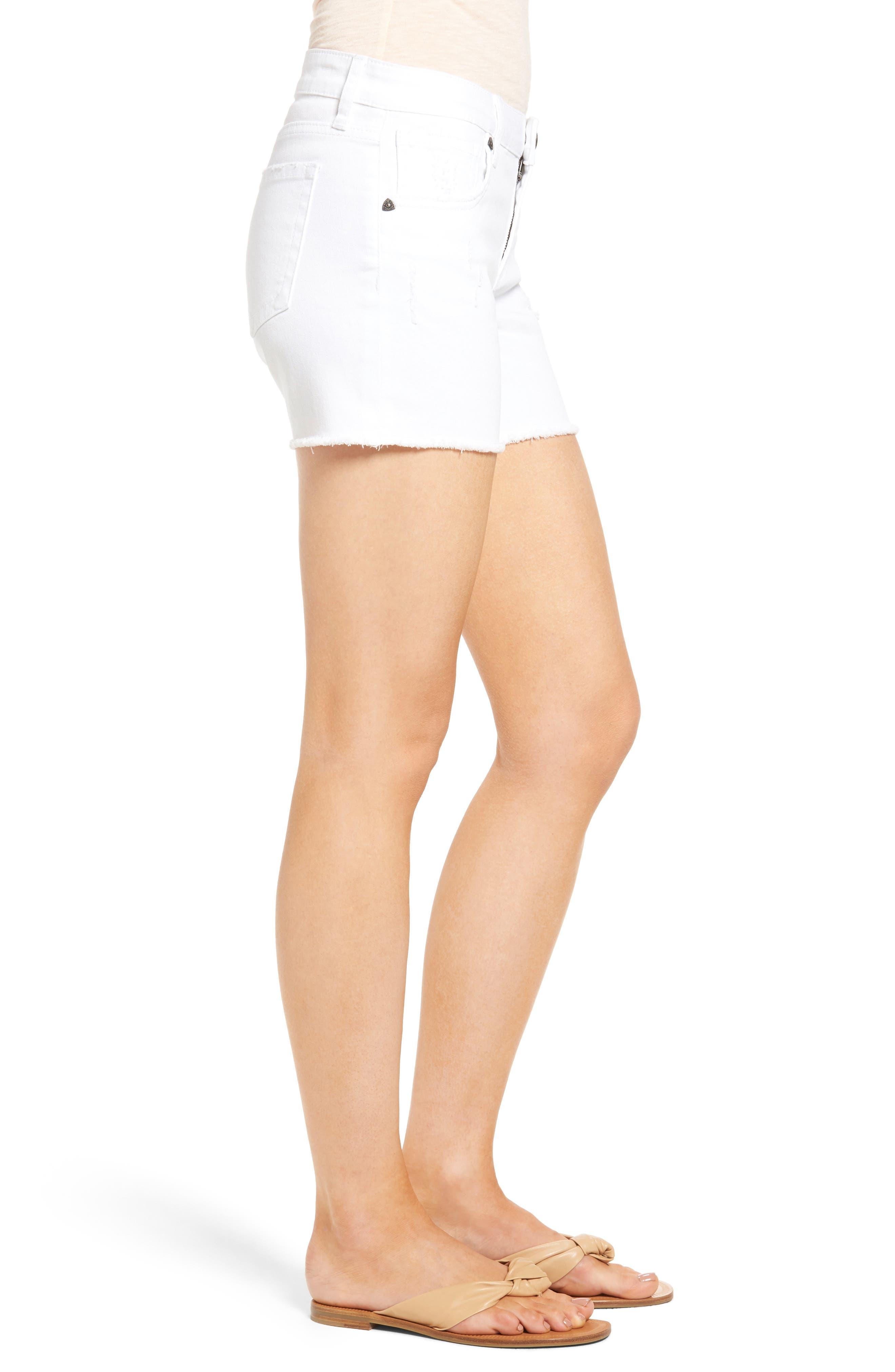 Alternate Image 3  - KUT from the Kloth Gidget Denim Shorts (Optic White)