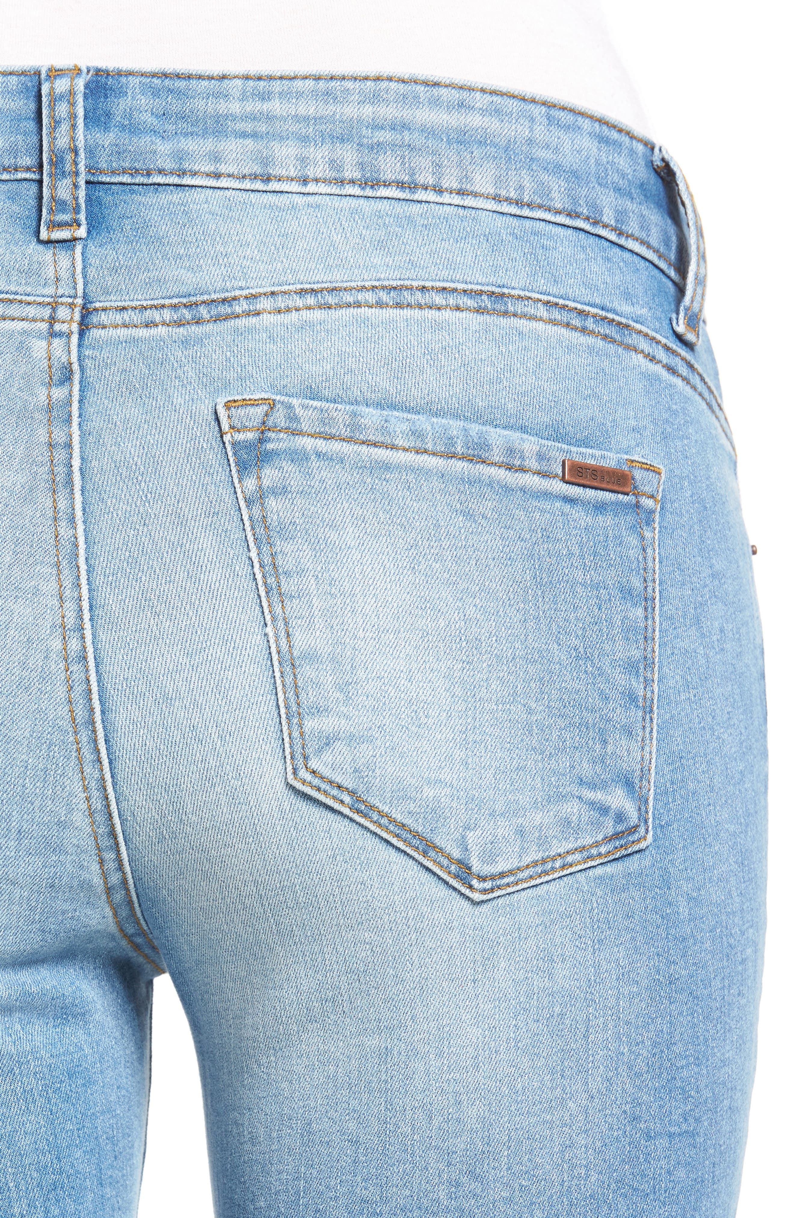 Alternate Image 4  - STS Blue Emma Ripped Crop Skinny Jeans (Mount Tallac)
