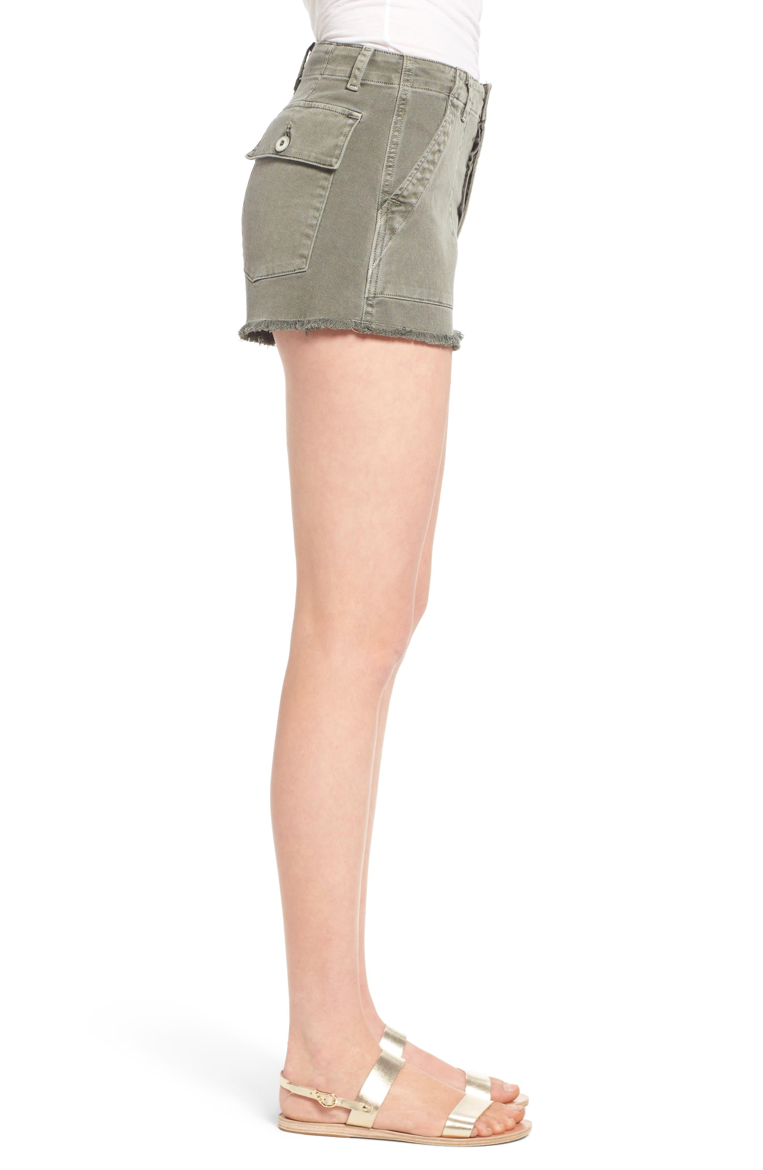 Alternate Image 3  - Hudson Jeans MKA Military High Waist Shorts