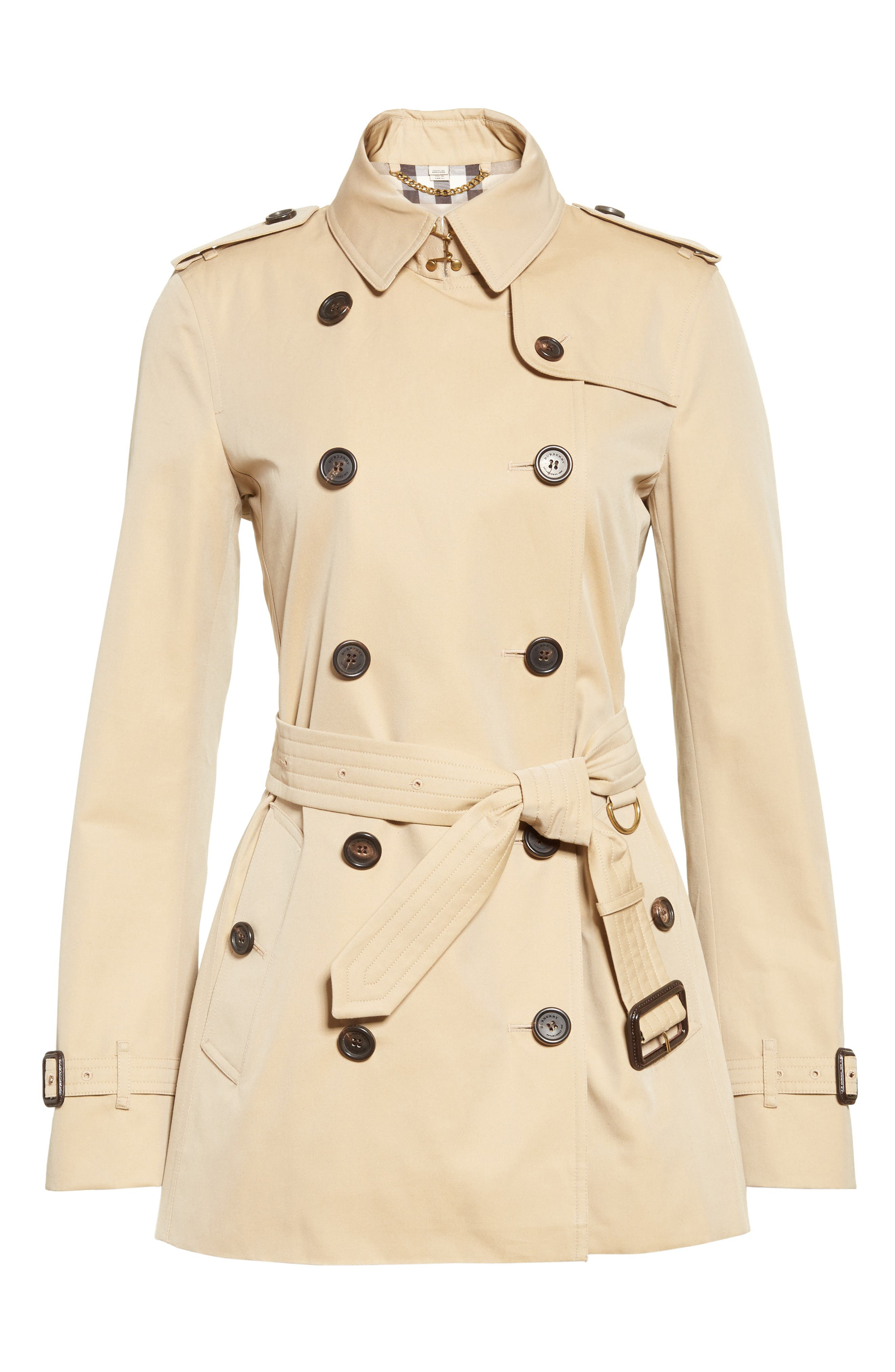 Alternate Image 4  - Burberry Kensington Short Trench Coat