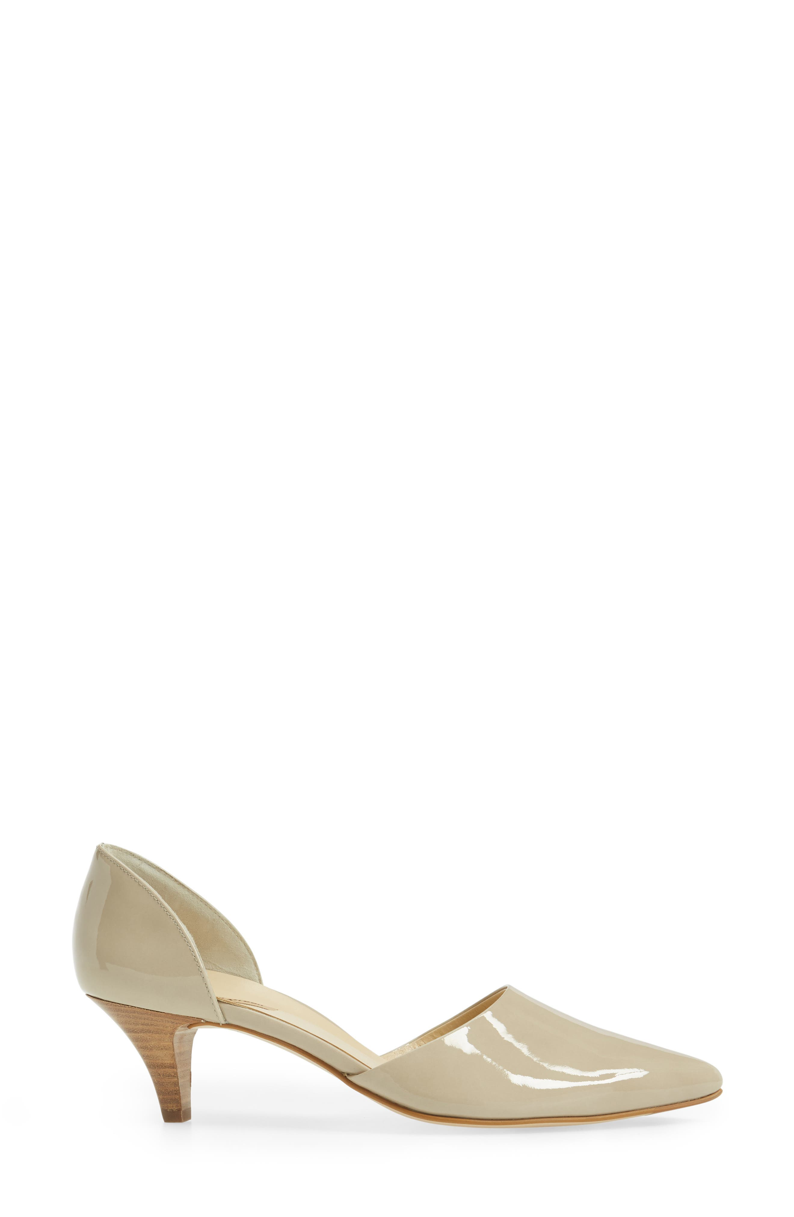 'Julia' d'Orsay Pump,                             Alternate thumbnail 3, color,                             Taupe Patent