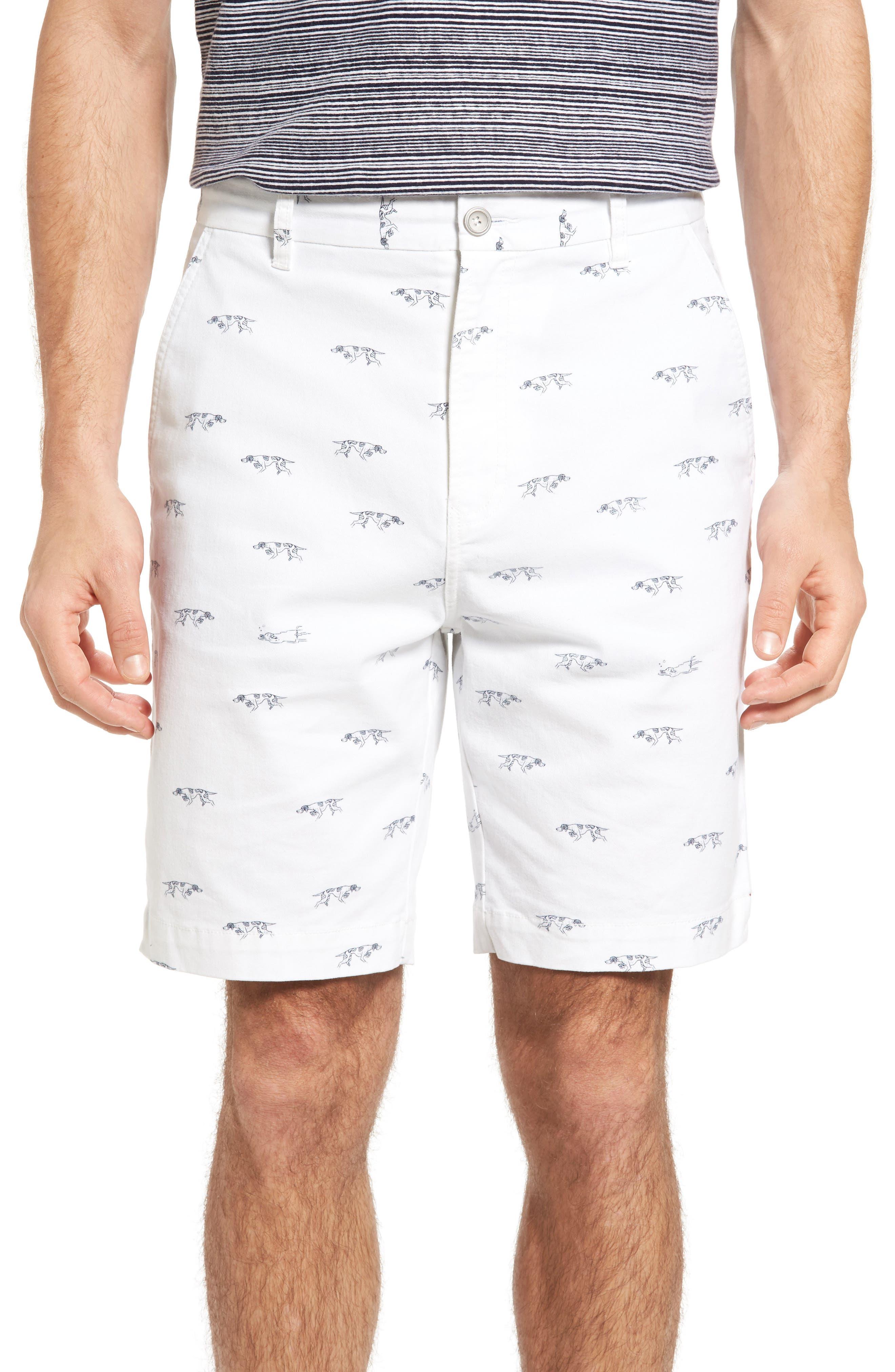 Lauriston Print Twill Shorts,                         Main,                         color, Chalk