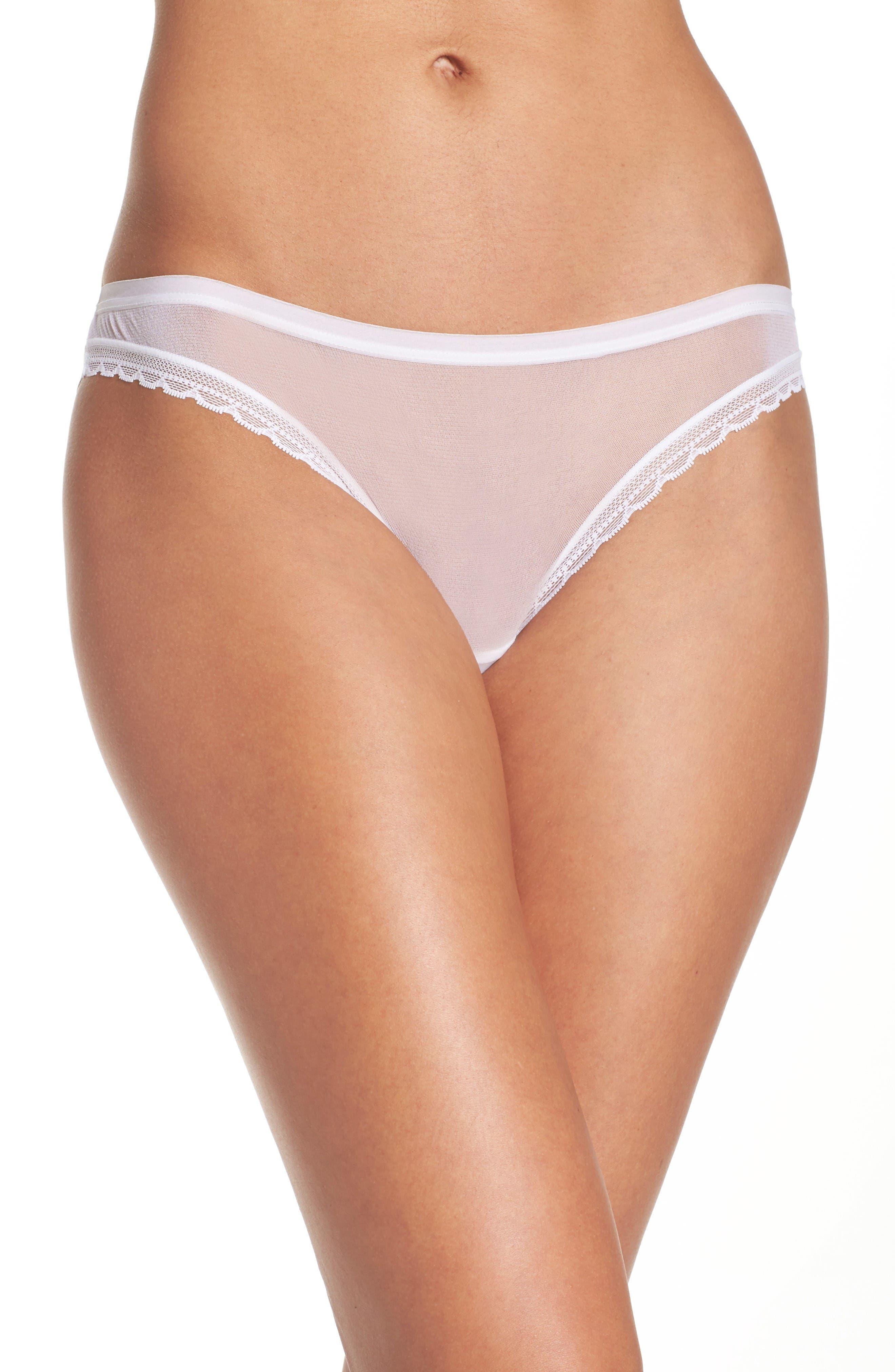 Mesh Bikini,                             Main thumbnail 1, color,                             White