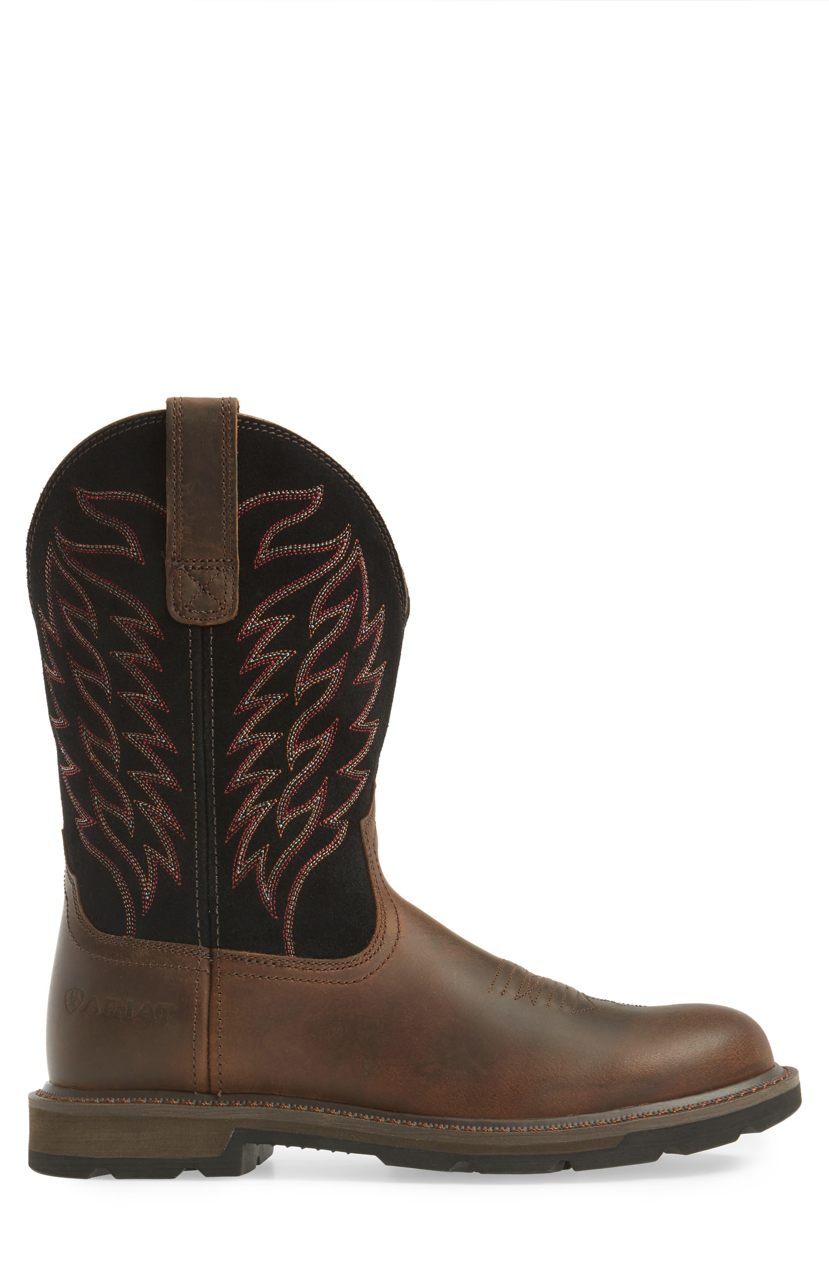 Groundbreaker Tall Boot,                             Alternate thumbnail 4, color,                             Brown
