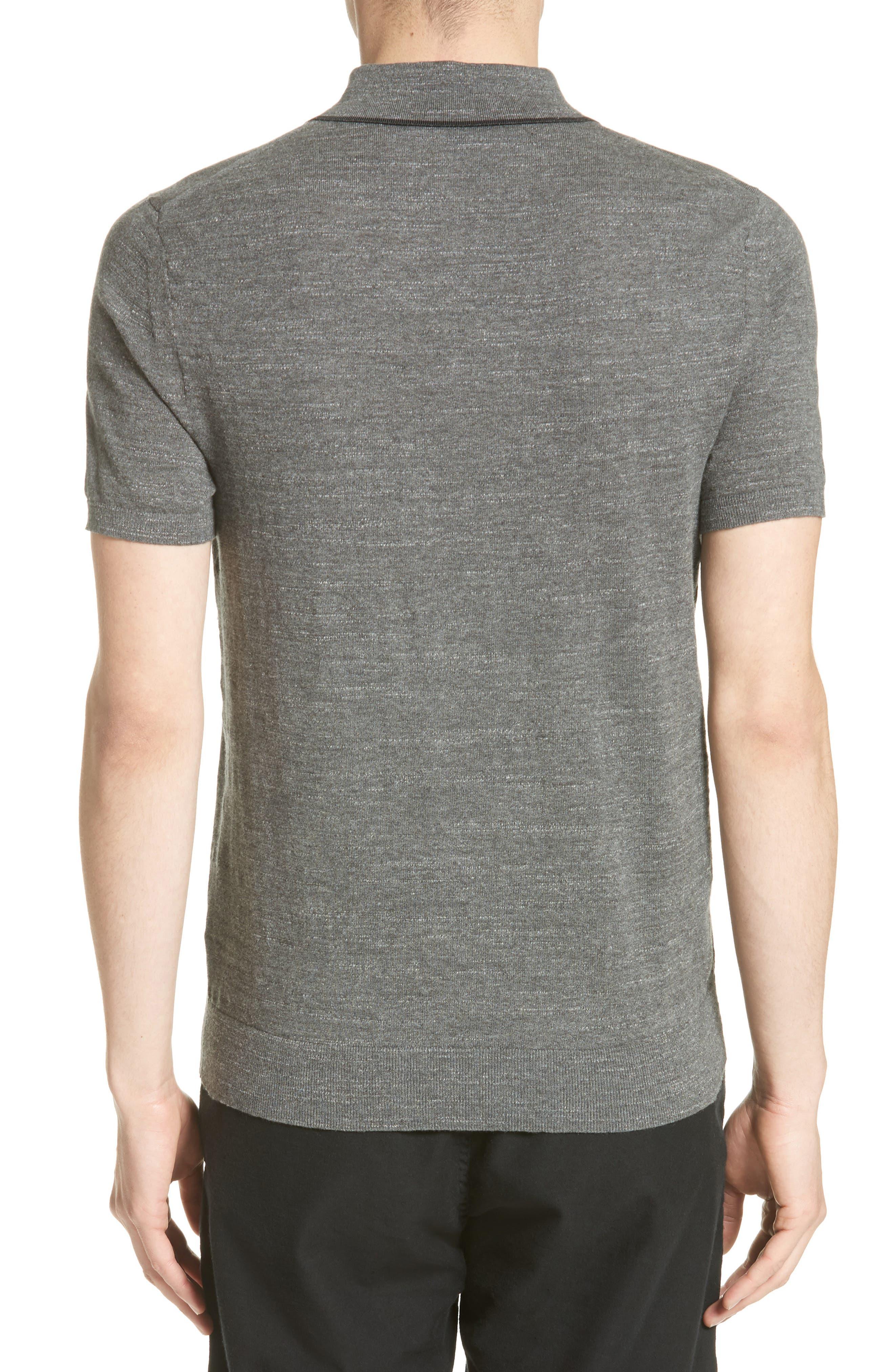 Lucas Cotton Polo,                             Alternate thumbnail 2, color,                             Grey Heather
