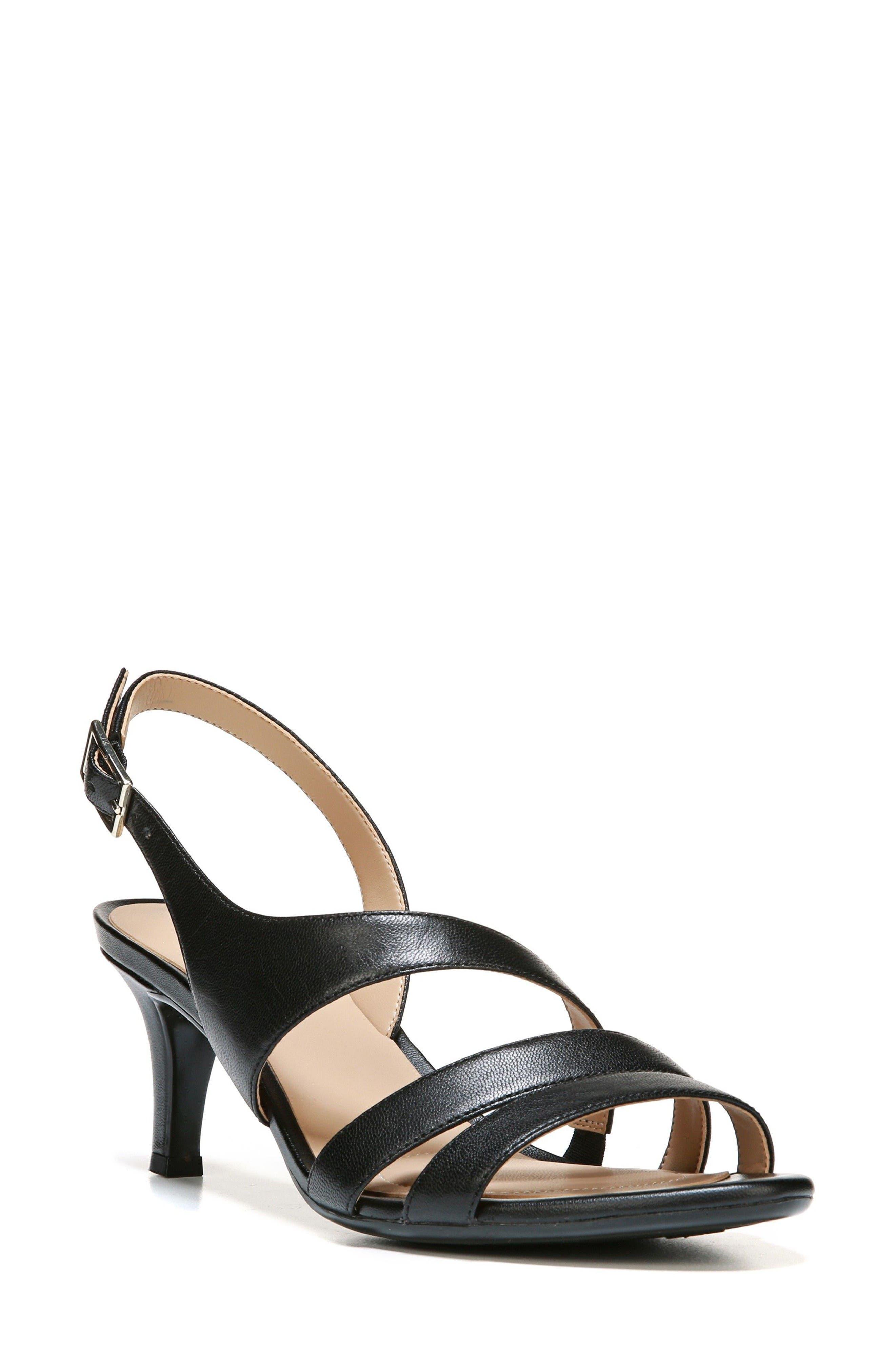 Taimi Sandal,                         Main,                         color, Black Leather