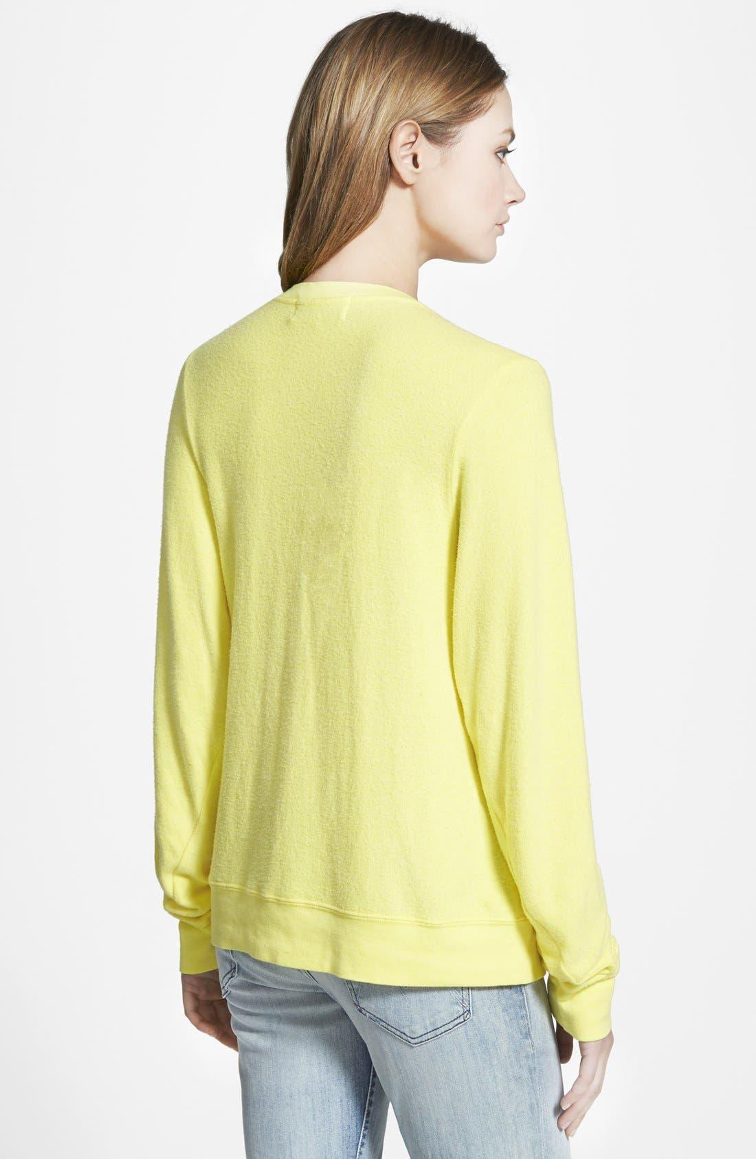 Alternate Image 2  - Wildfox 'More Sun' V-Neck Sweatshirt