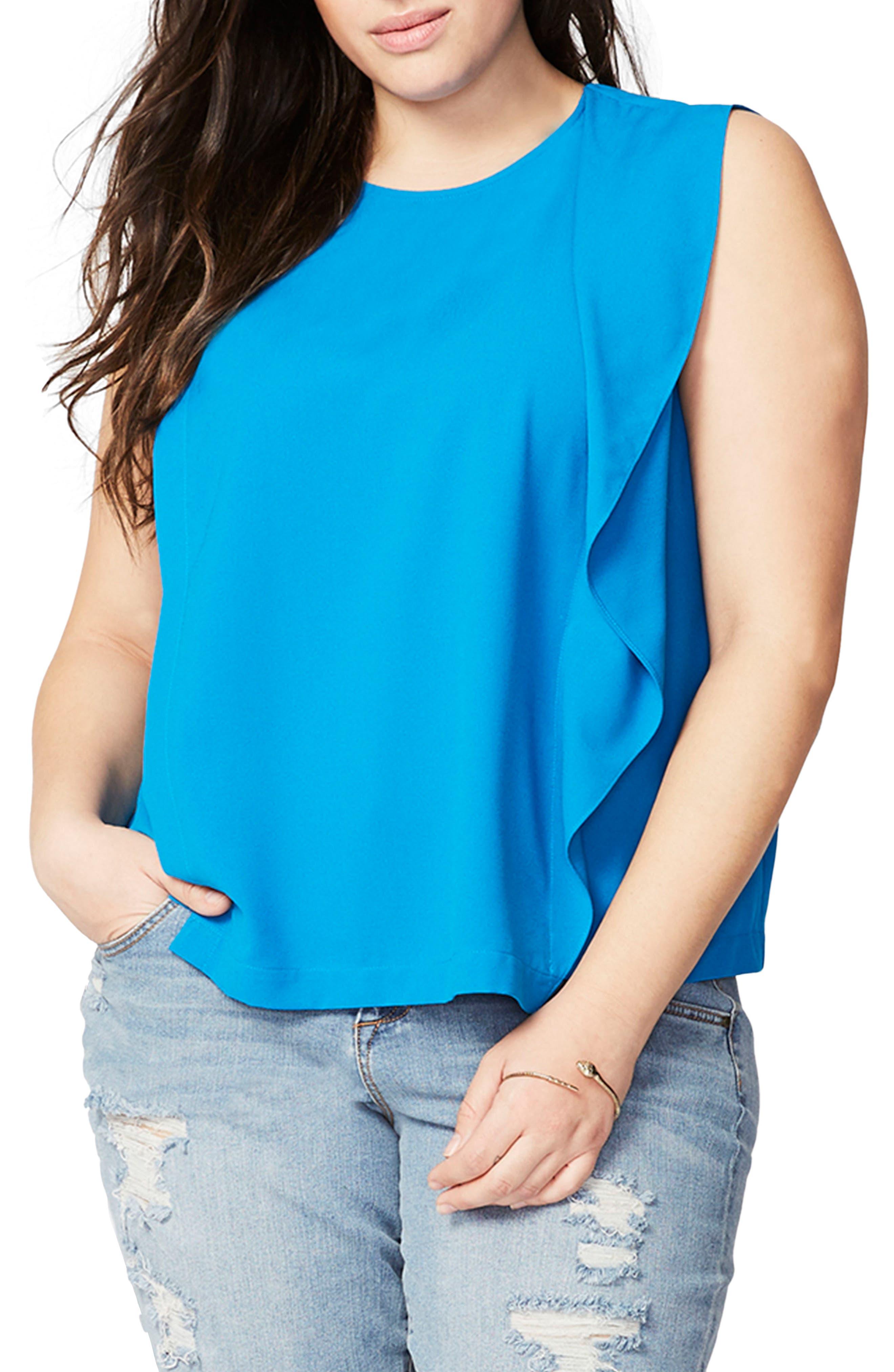 RACHEL Rachel Roy Side Drape Top (Plus Size)