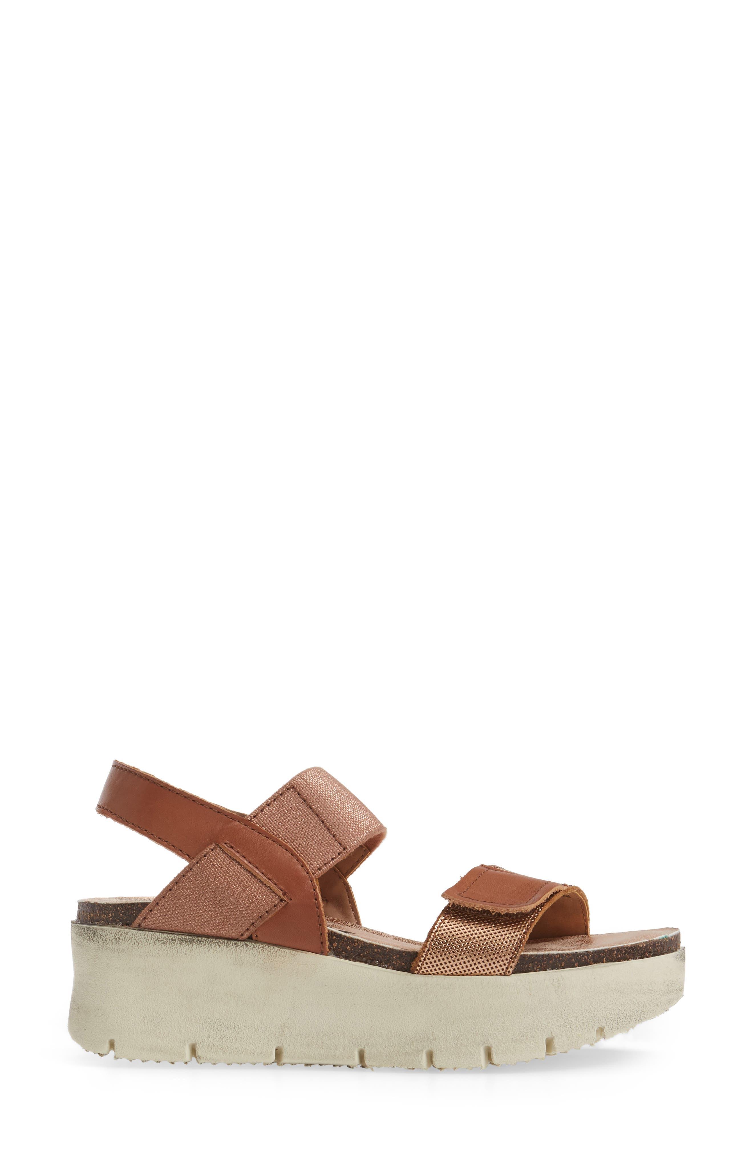 Nova Platform Sandal,                             Alternate thumbnail 3, color,                             Copper Leather