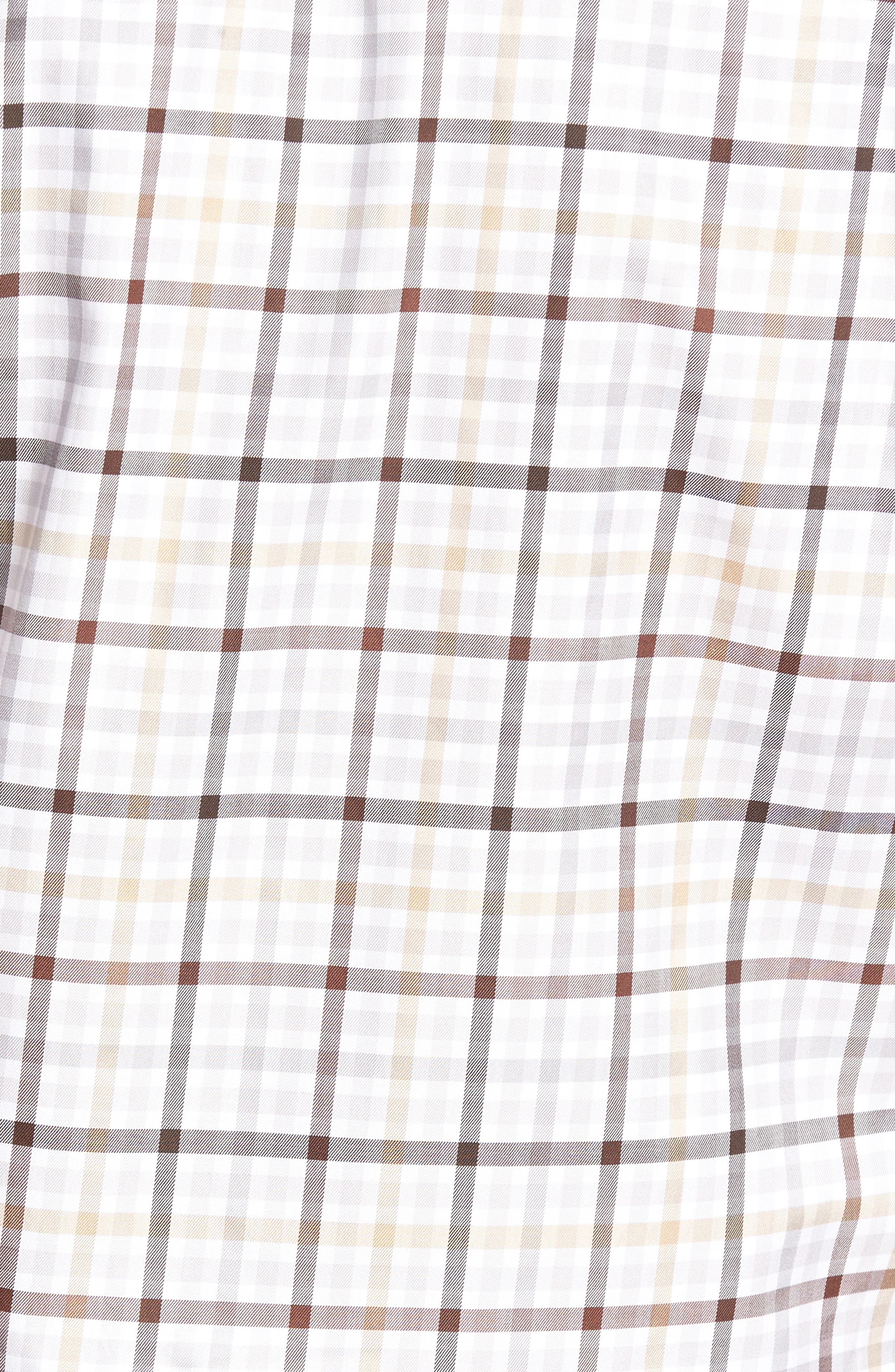 Anderson Classic Fit Plaid Micro Twill Sport Shirt,                             Alternate thumbnail 5, color,                             201