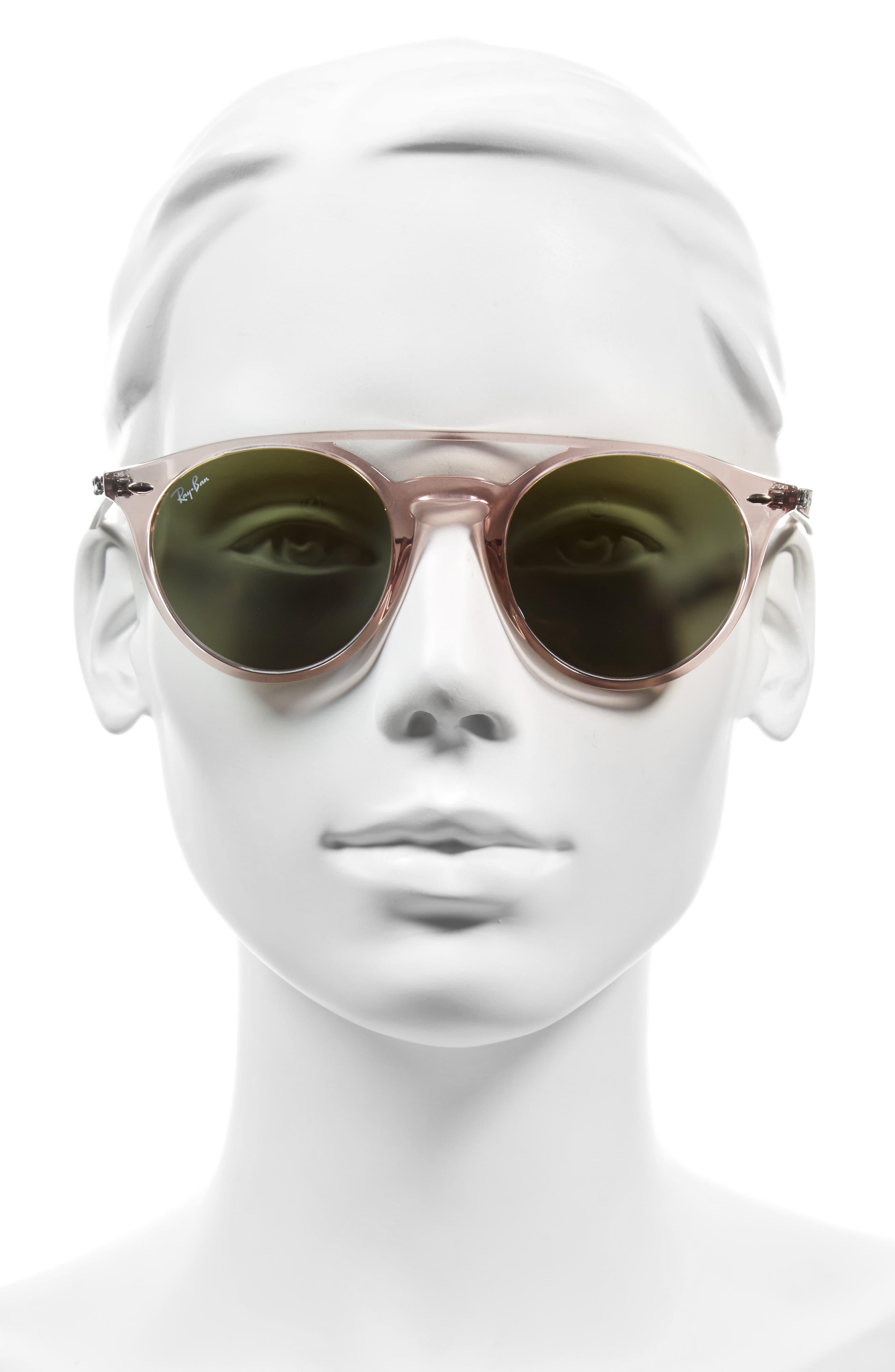 51mm Mirrored Rainbow Sunglasses,                             Alternate thumbnail 2, color,                             Pink Rainbow