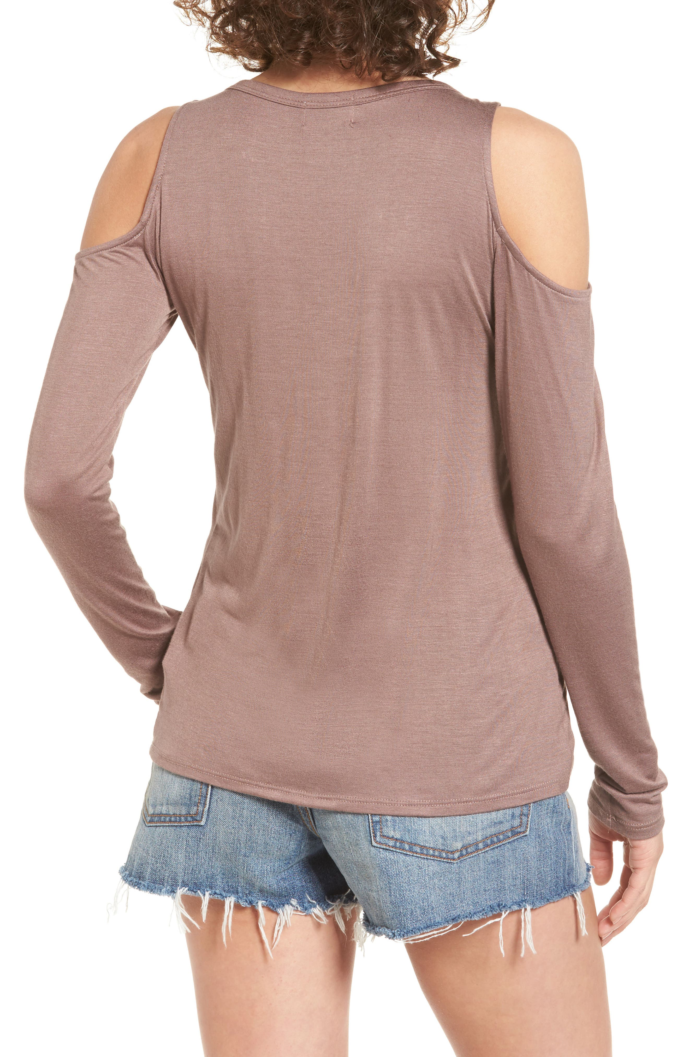 Alternate Image 2  - PST by Project Social T Lace-Up Cold Shoulder Tee
