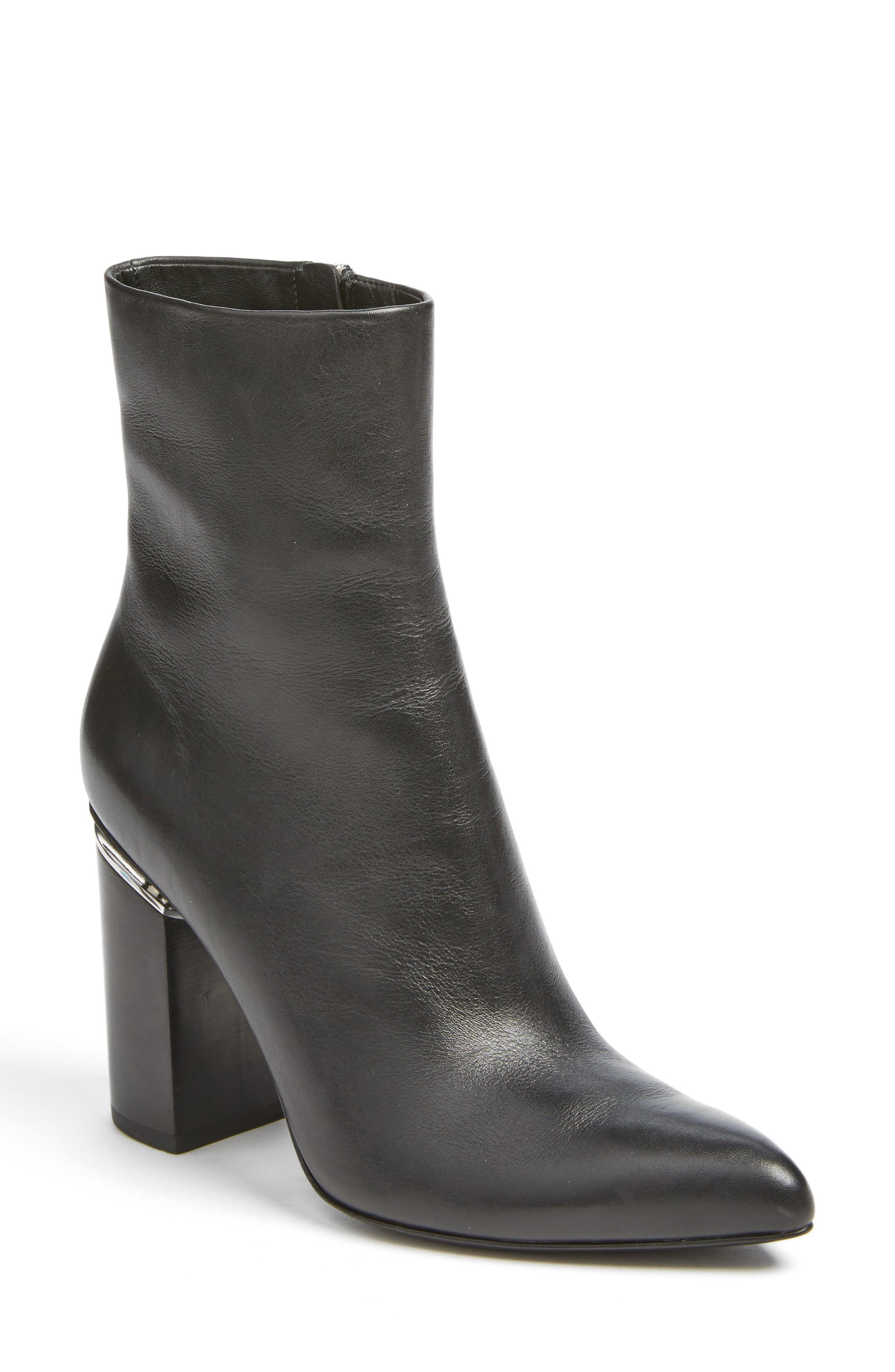 Kirby Boot,                         Main,                         color, Black Leather