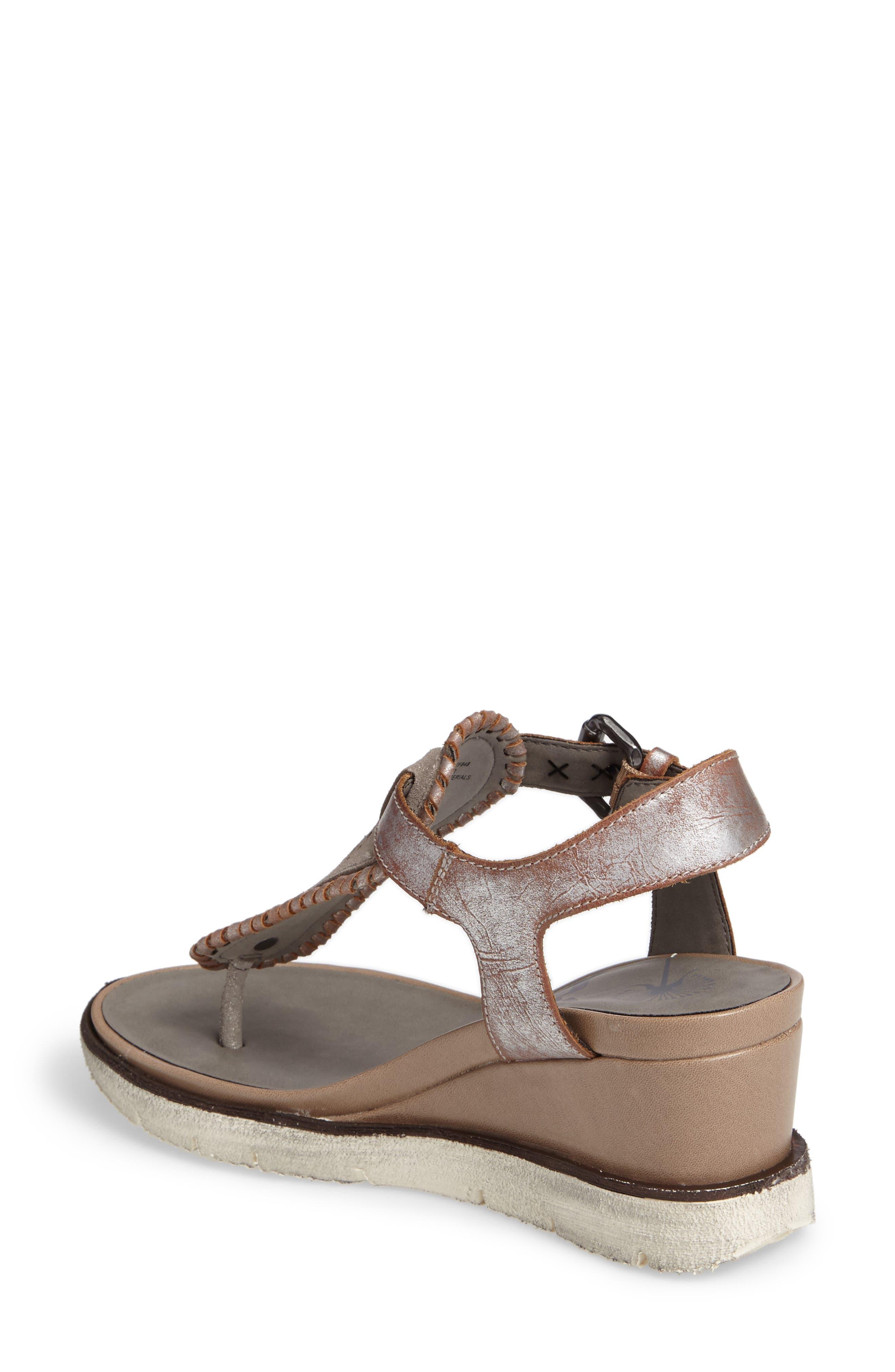 Excursion Wedge Sandal,                             Alternate thumbnail 2, color,                             Cloudburst Leather