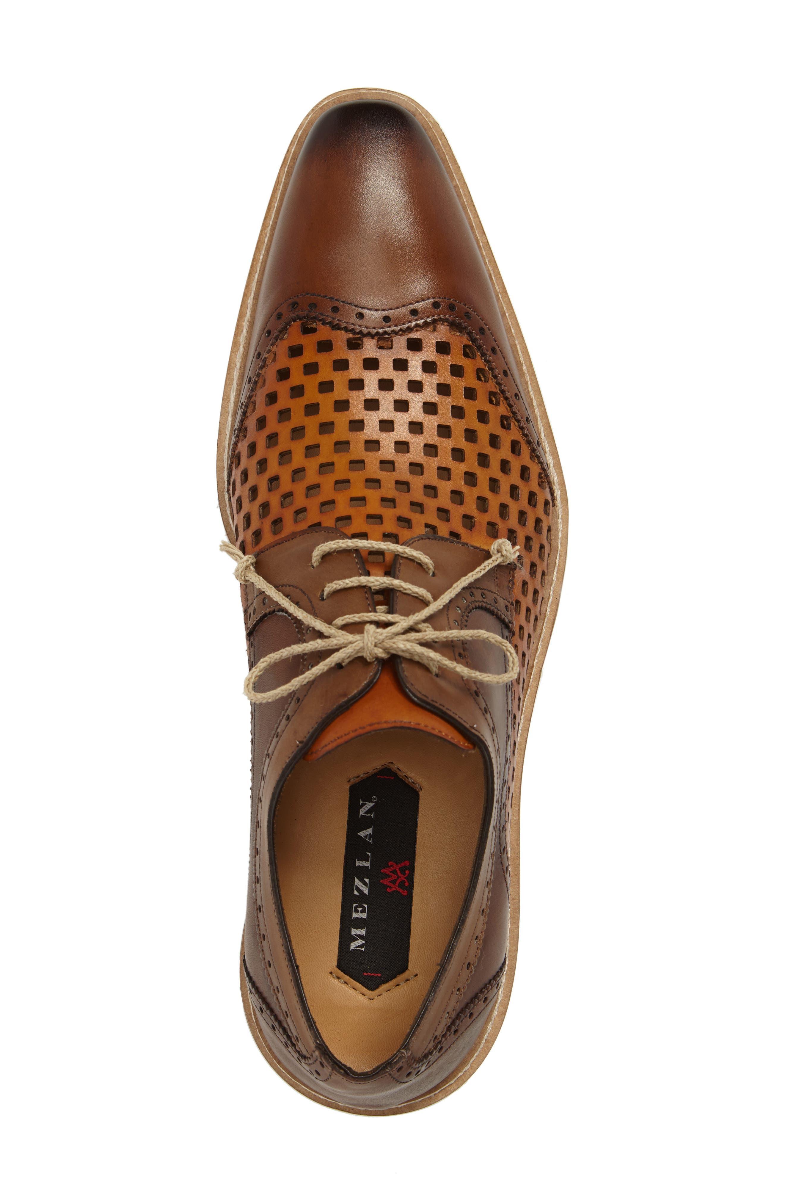 Alvarez Spectator Shoe,                             Alternate thumbnail 5, color,                             Cognac Multi Leather