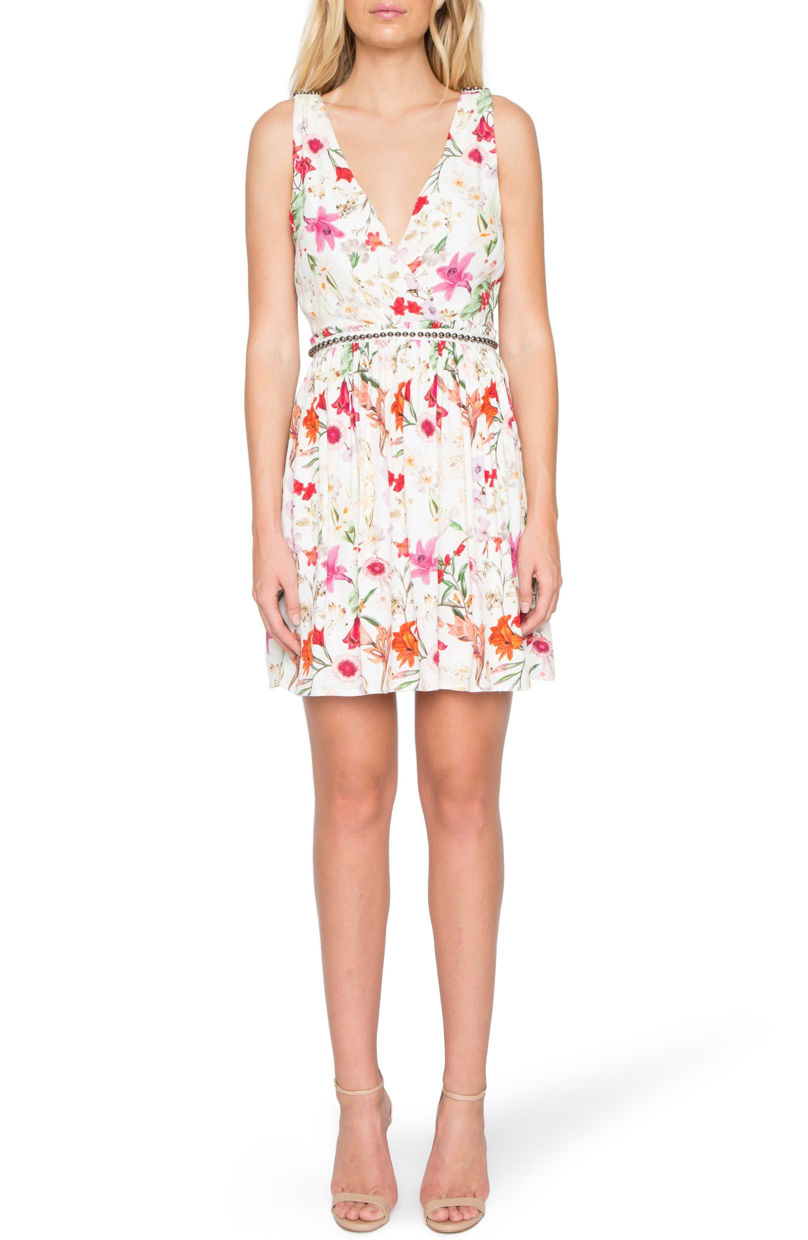 Willow & Clay Floral Surplice Dress