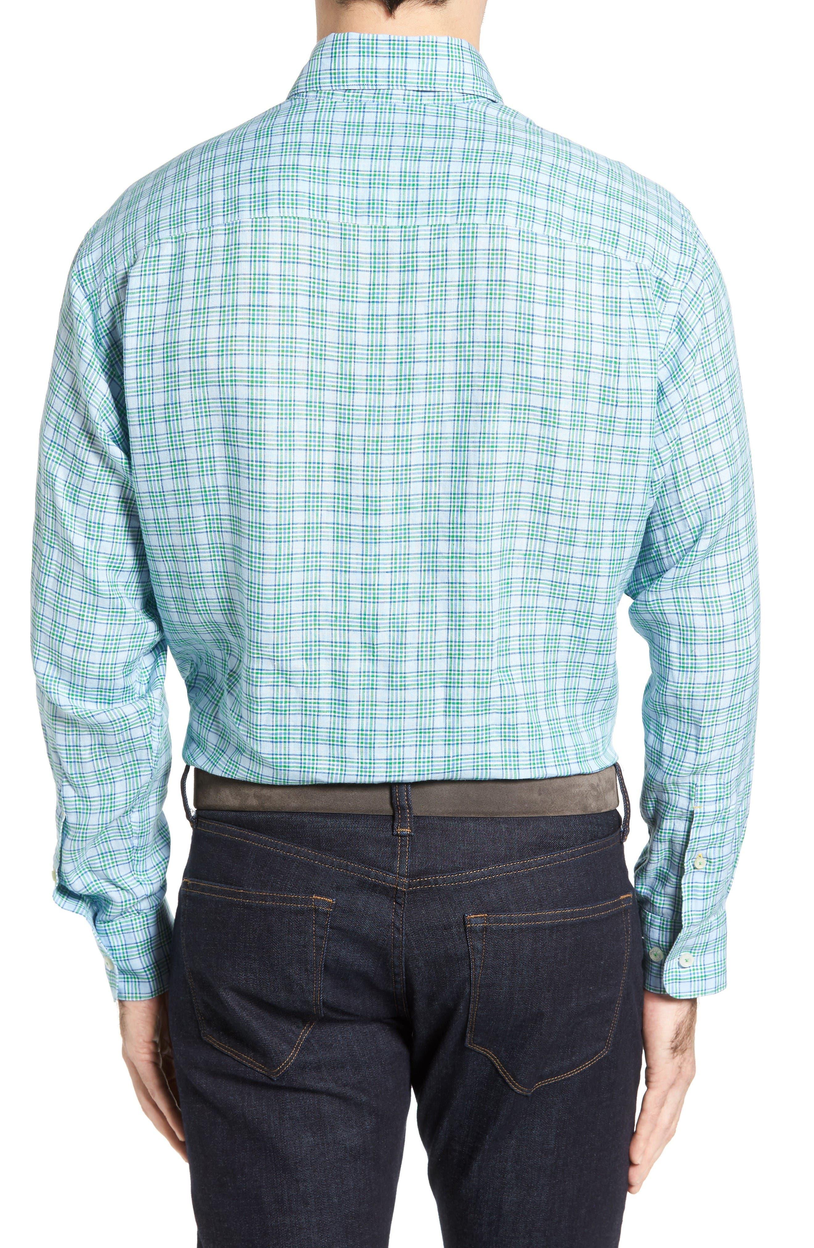Anderson Classic Fit Sport Shirt,                             Alternate thumbnail 2, color,                             Aqua