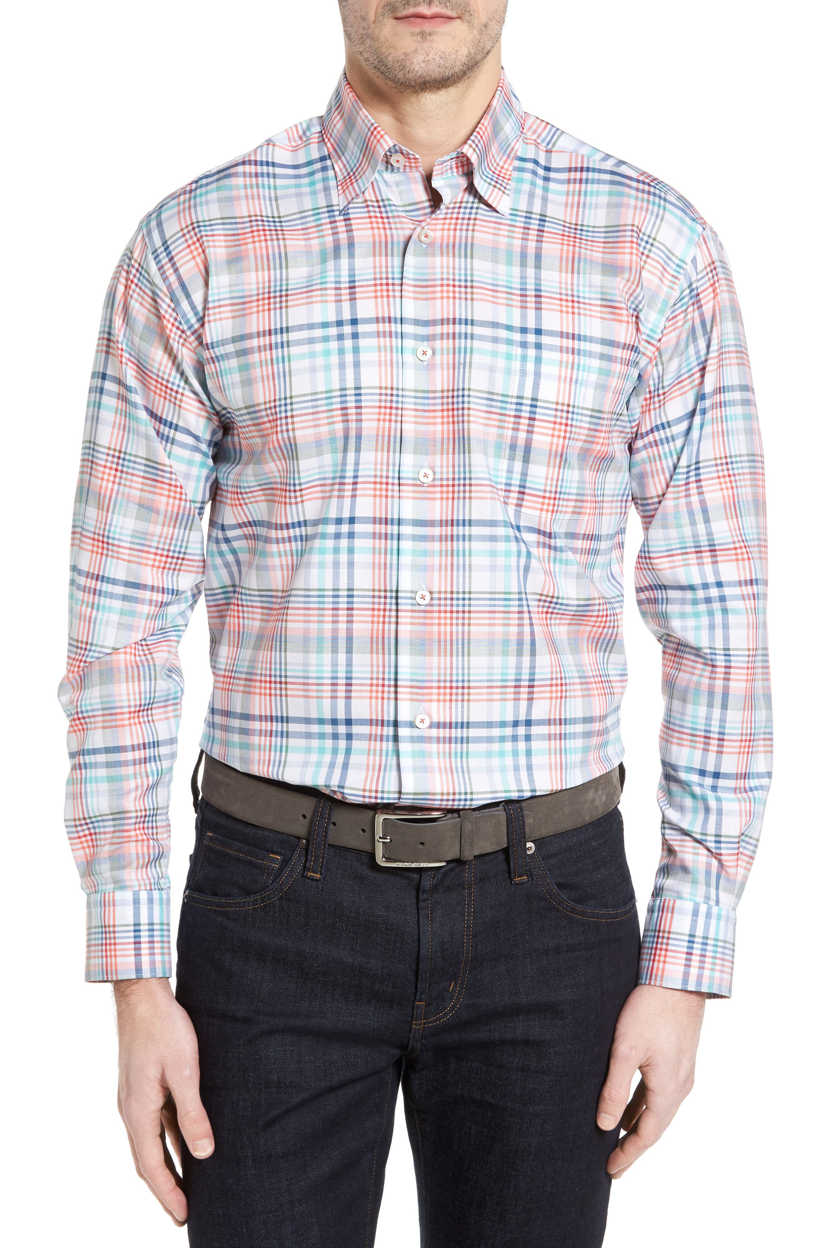 Main Image - Robert Talbott Anderson Classic Fit Plaid Twill Sport Shirt