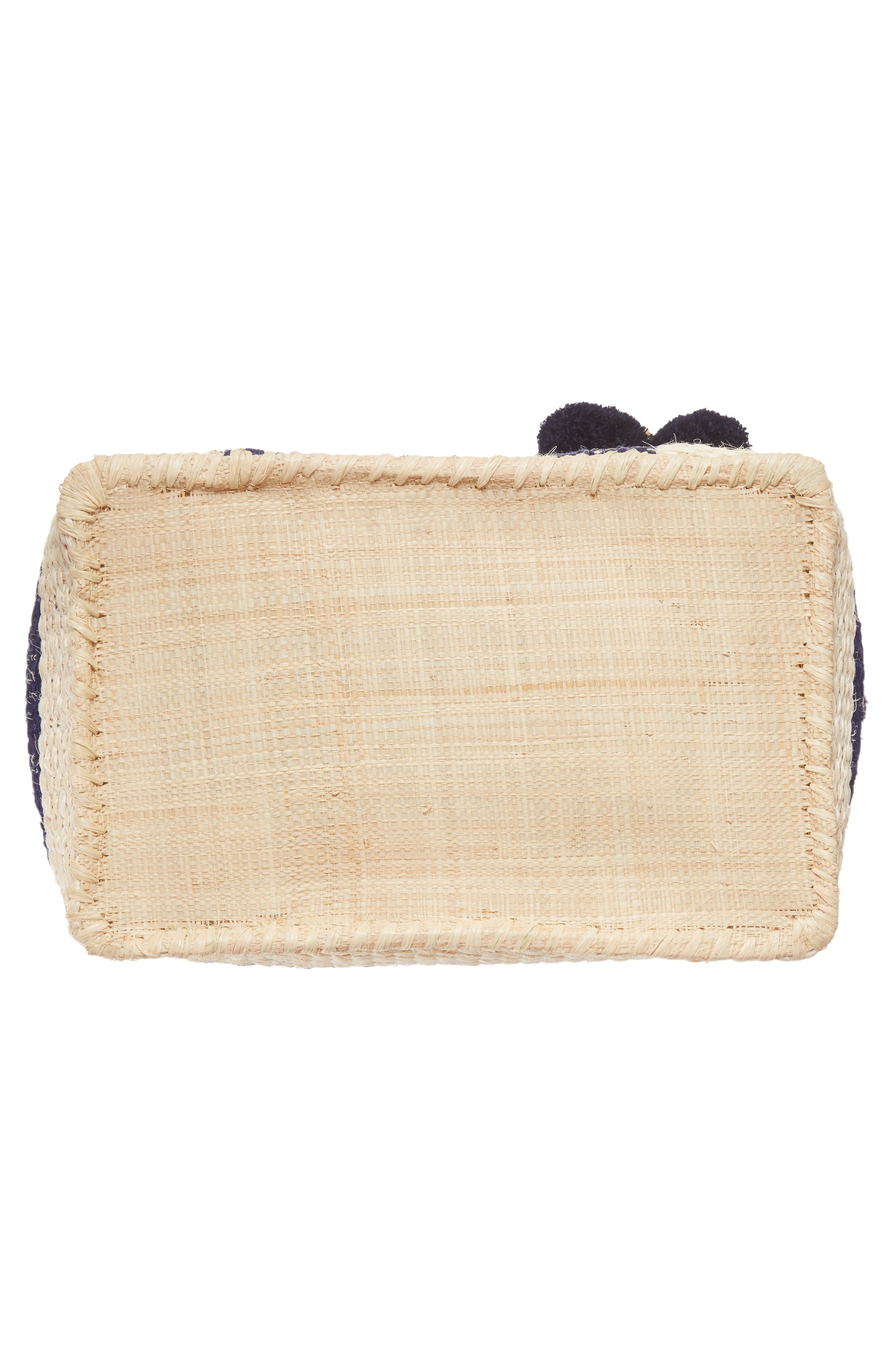 'Collins' Woven Tote,                             Alternate thumbnail 6, color,                             Navy