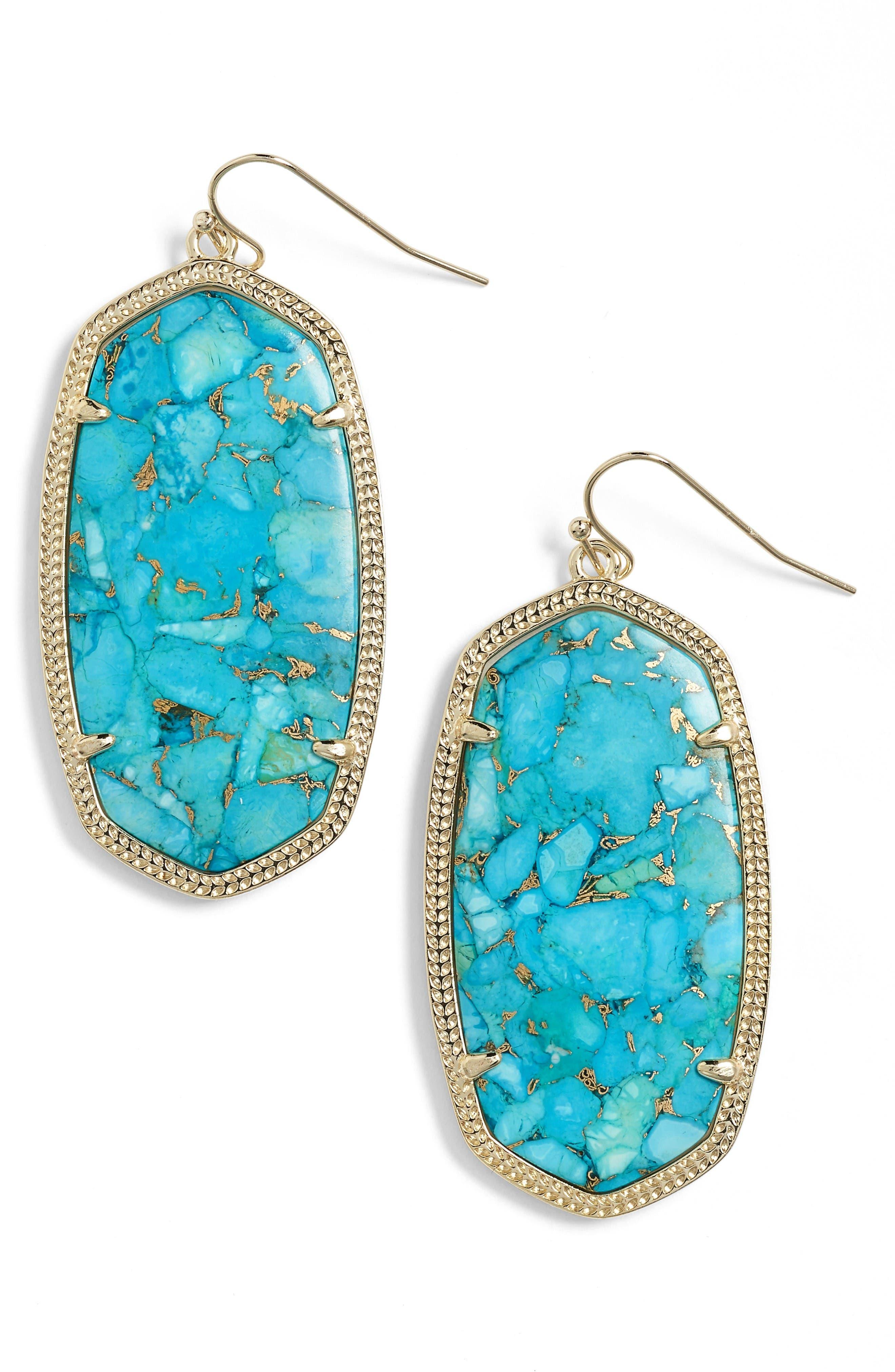 Main Image - Kendra Scott Danielle - Large Oval Statement Earrings