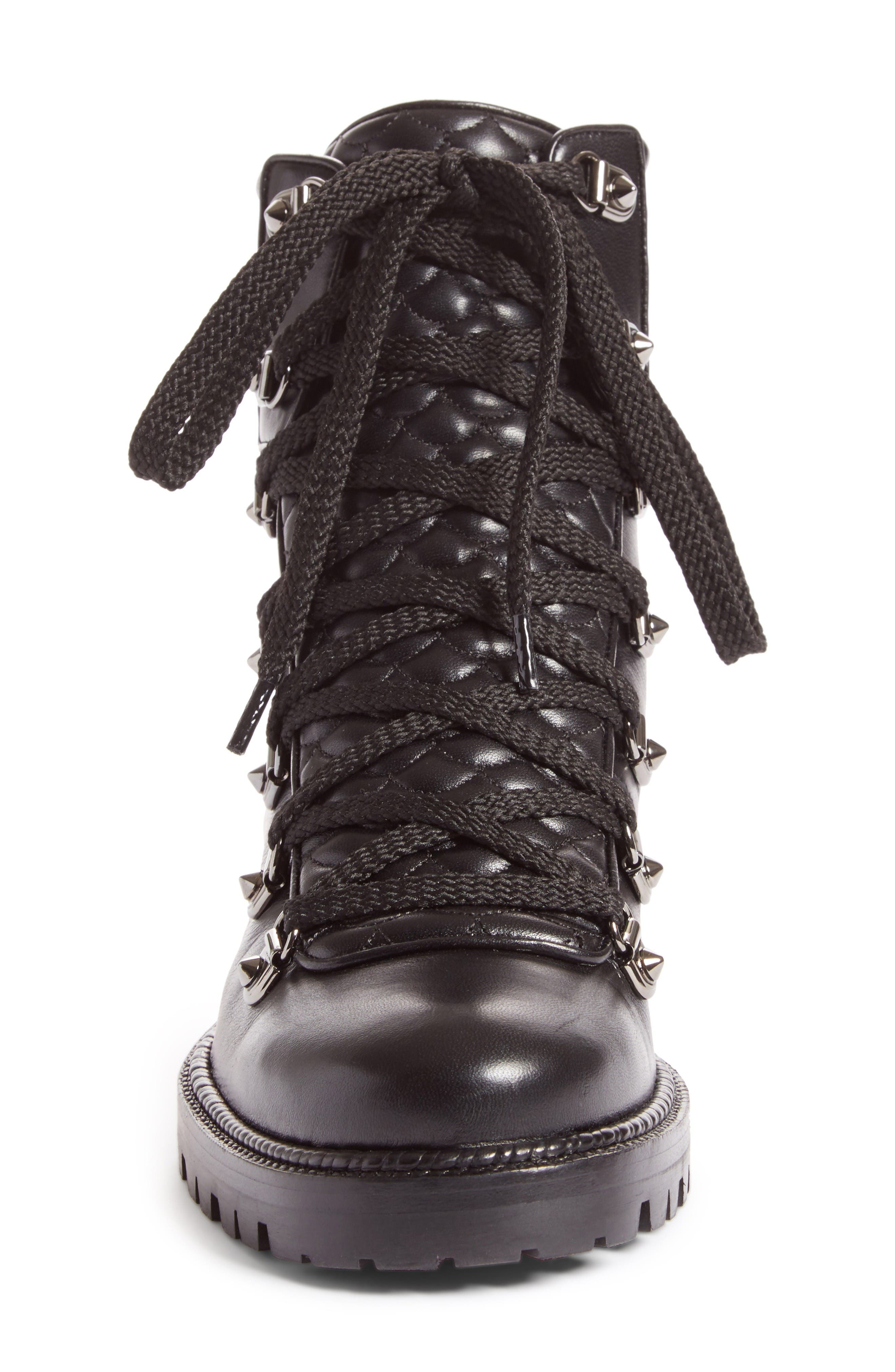 Mad Combat Boot,                             Alternate thumbnail 3, color,                             Black Leather