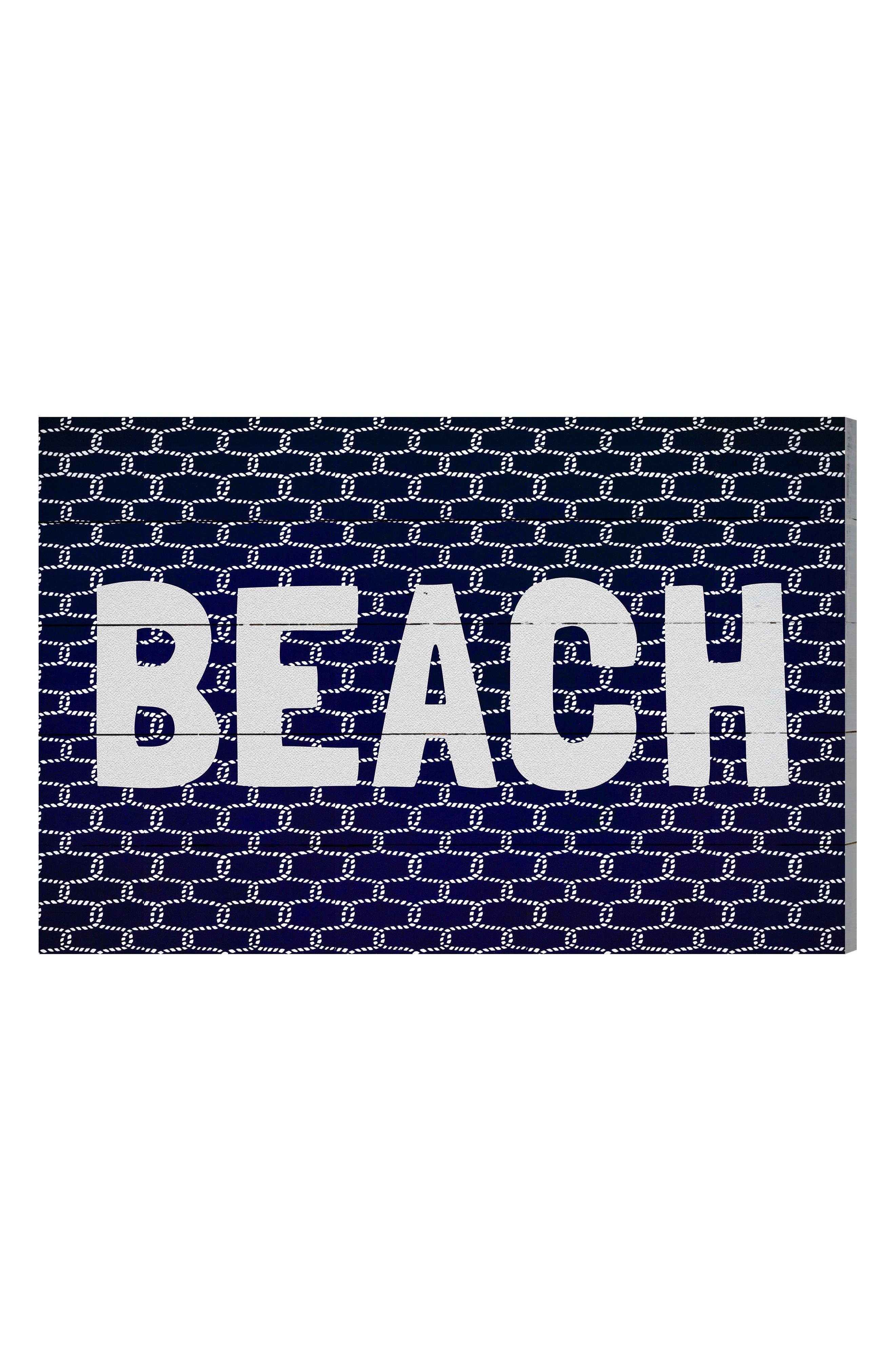 Wynwood Beach Knot Wall Art,                         Main,                         color, Blue
