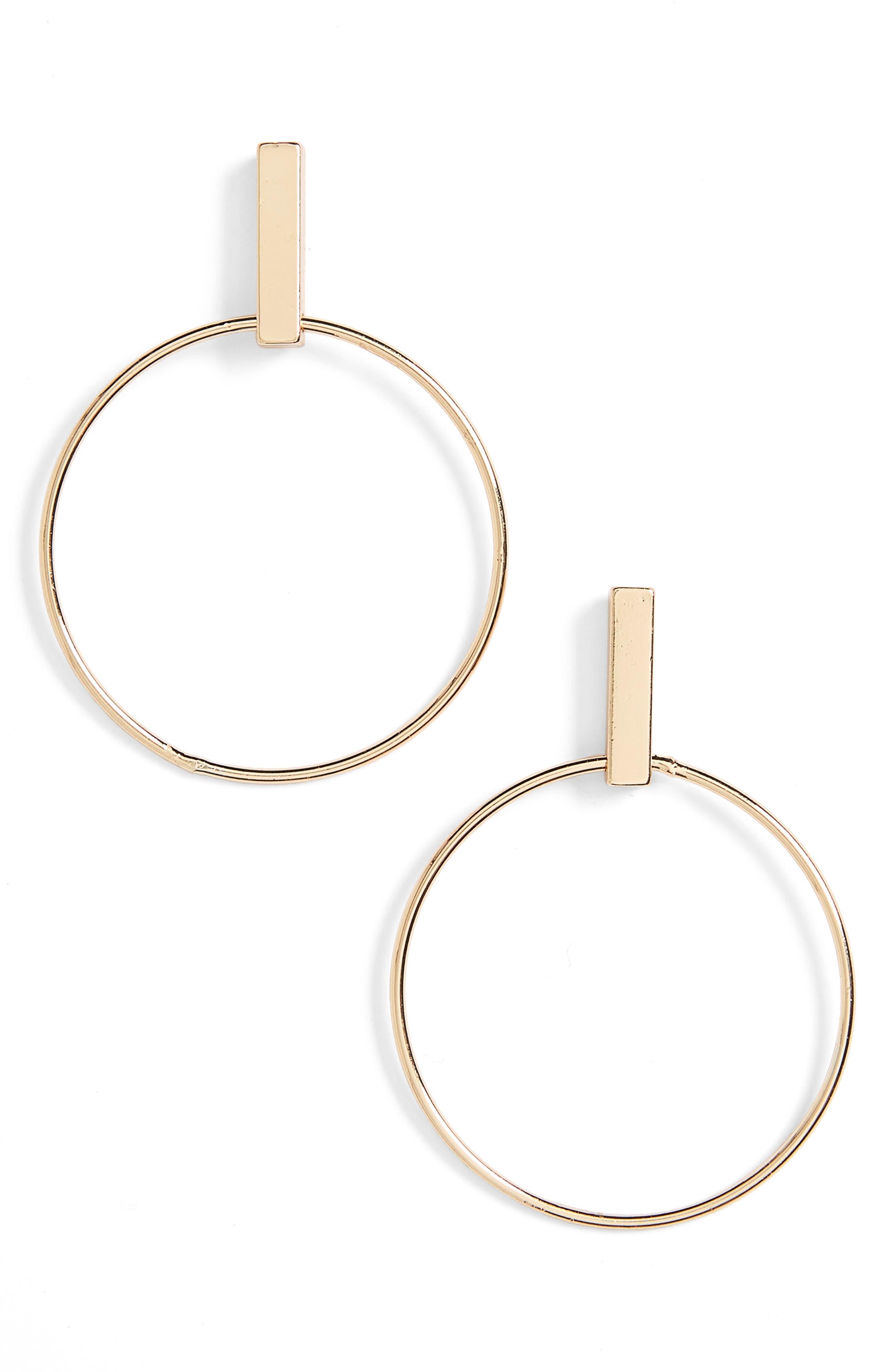Alternate Image 1 Selected - BP. Bar Hoop Earrings
