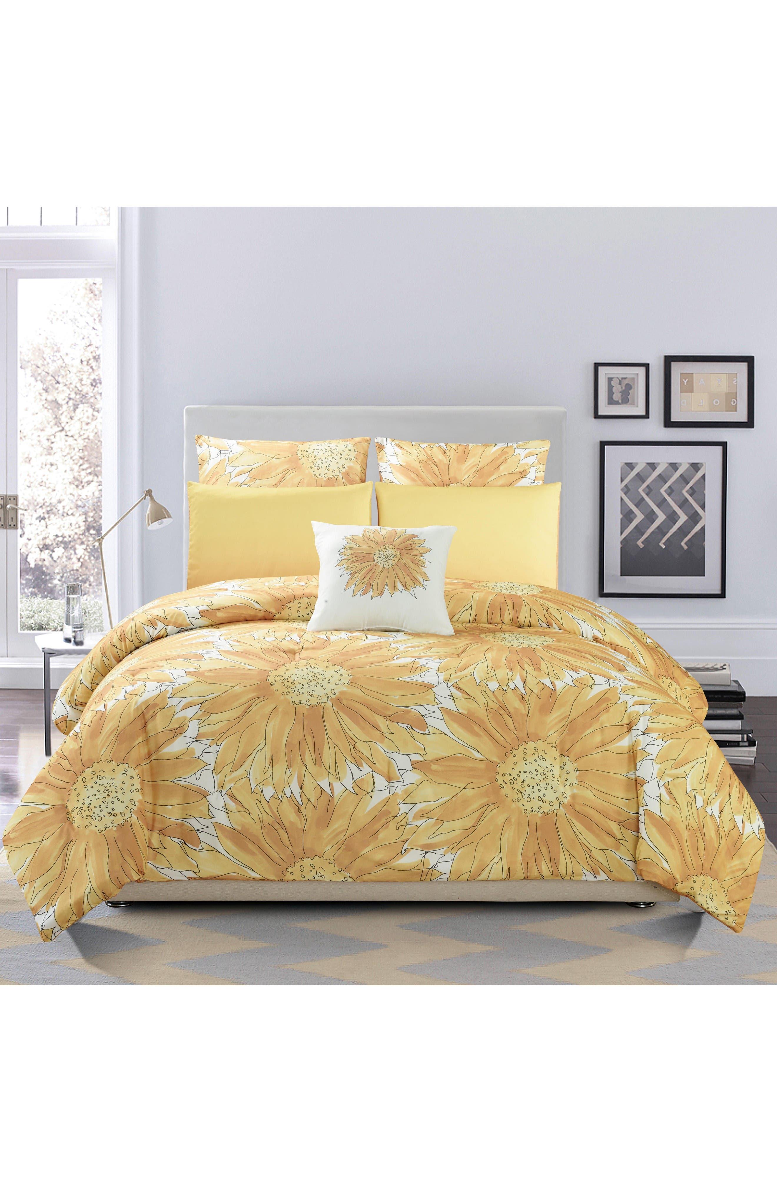Adelphie 6-Piece Queen Comforter Set,                         Main,                         color, Beeswax