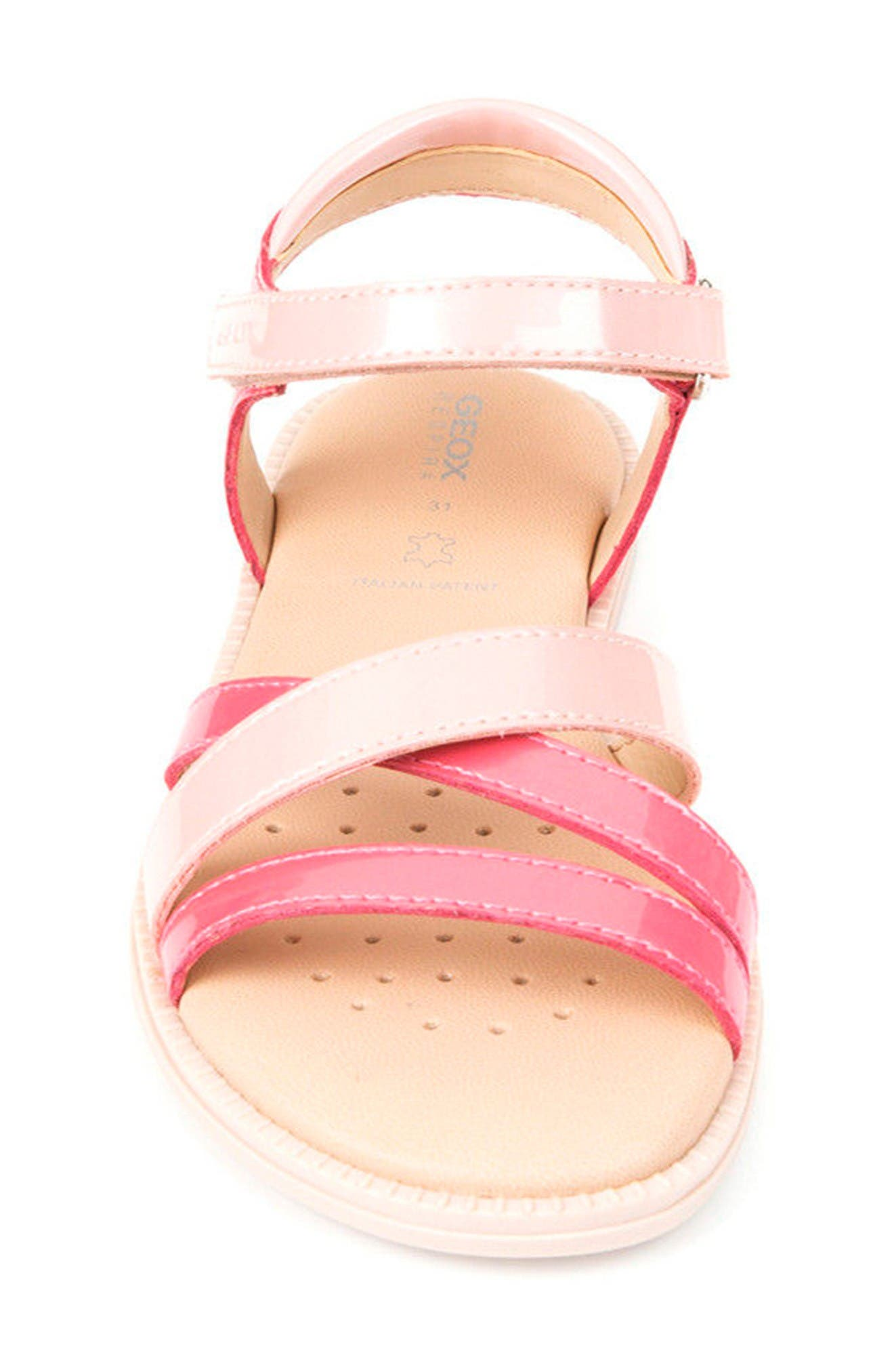 Karly Girl Sandal,                             Alternate thumbnail 4, color,                             Light Coral/ Rose