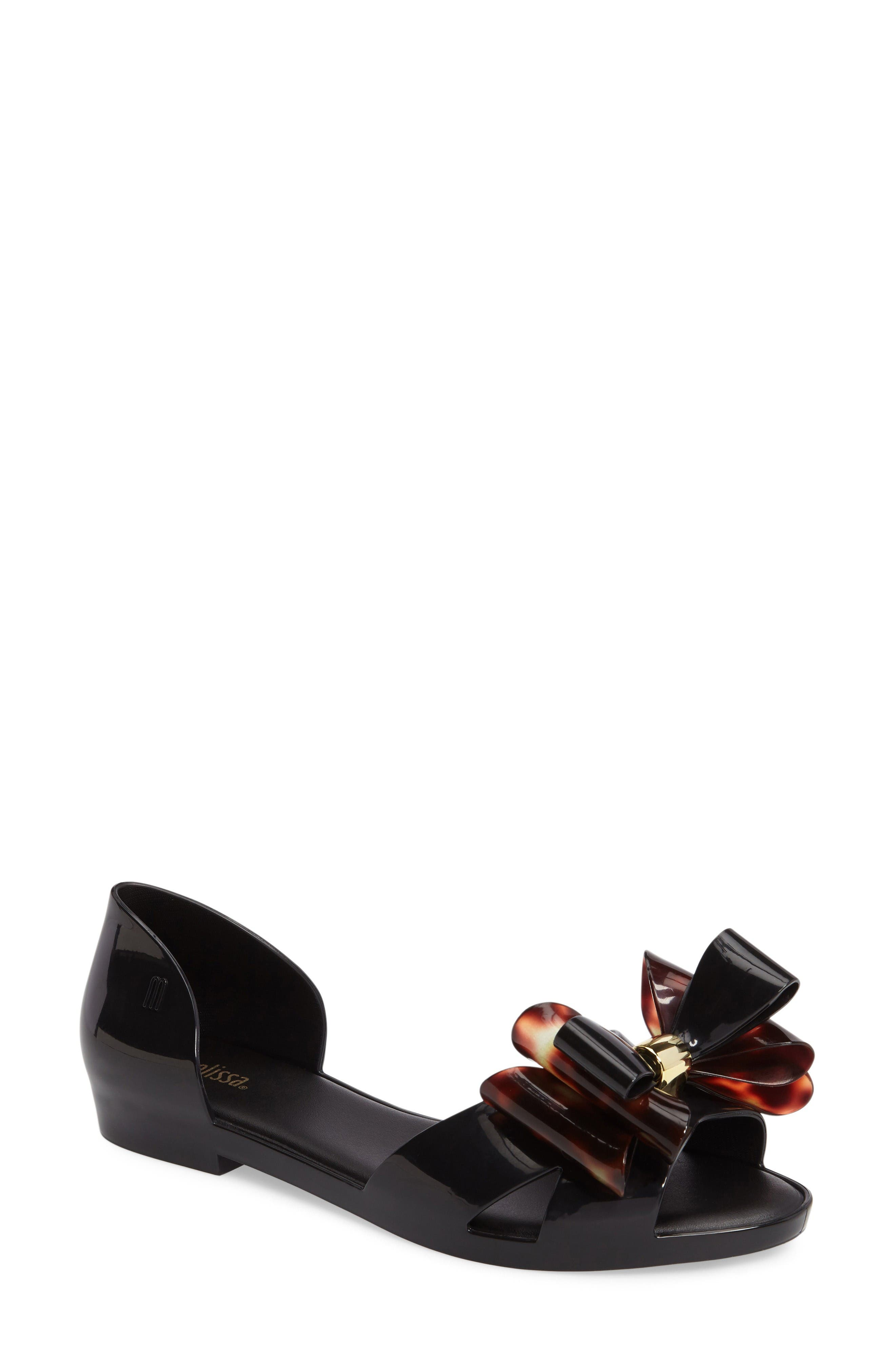 Main Image - Melissa Seduction Triple Bow Flat (Women)