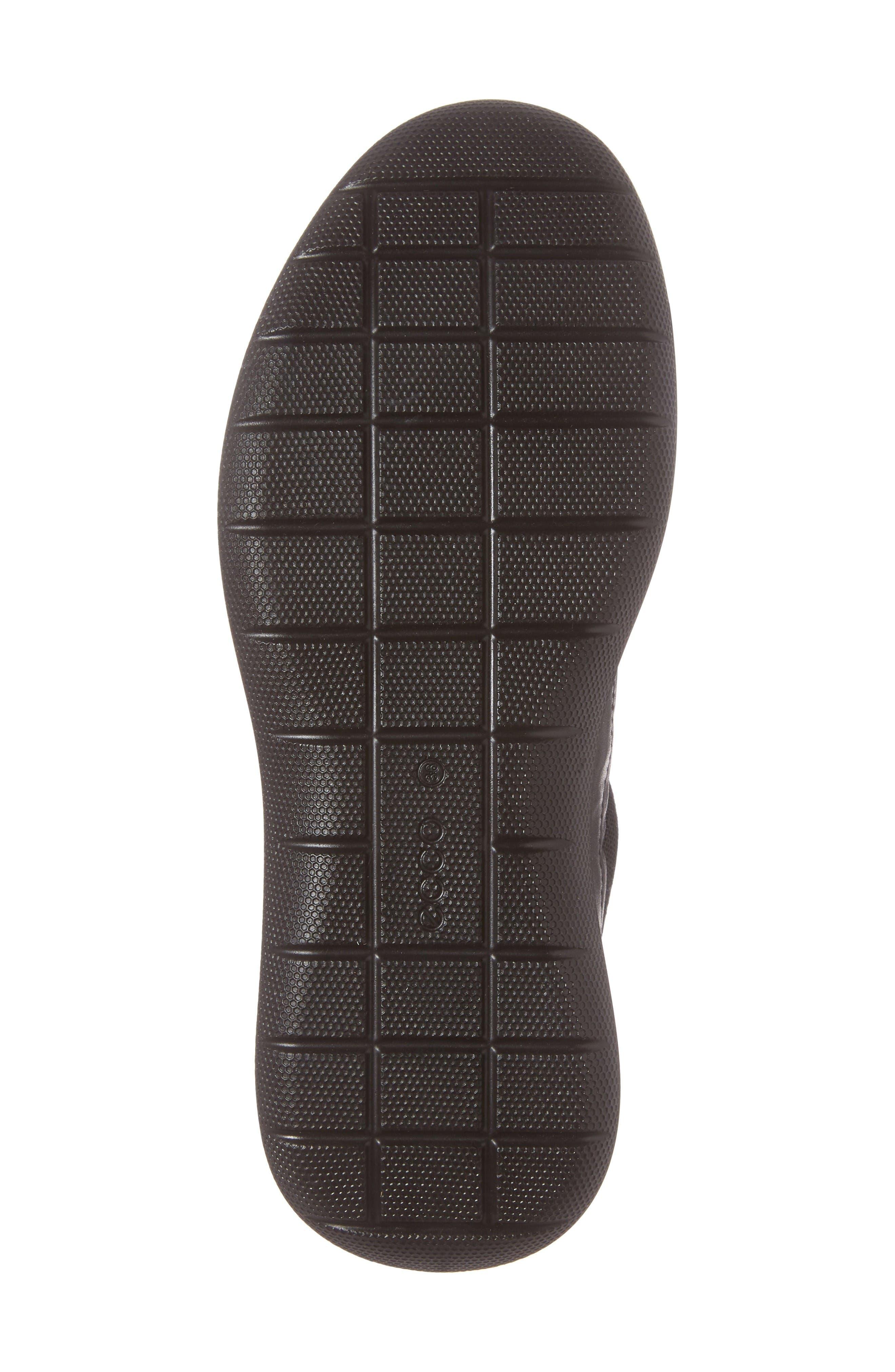 Soft 5 Sneaker,                             Alternate thumbnail 6, color,                             Black Leather